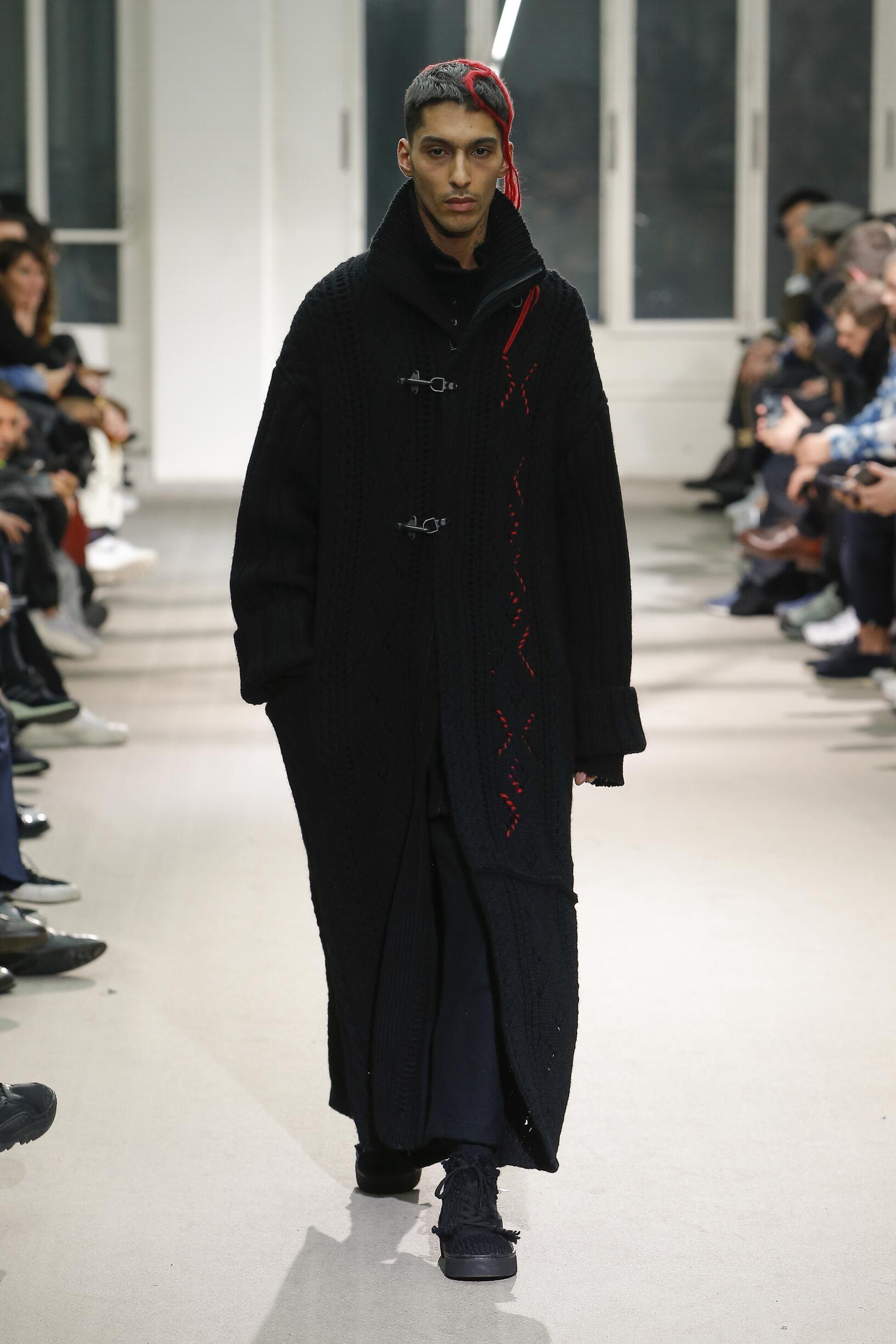 Yohji Yamamoto Menswear Fashion Show