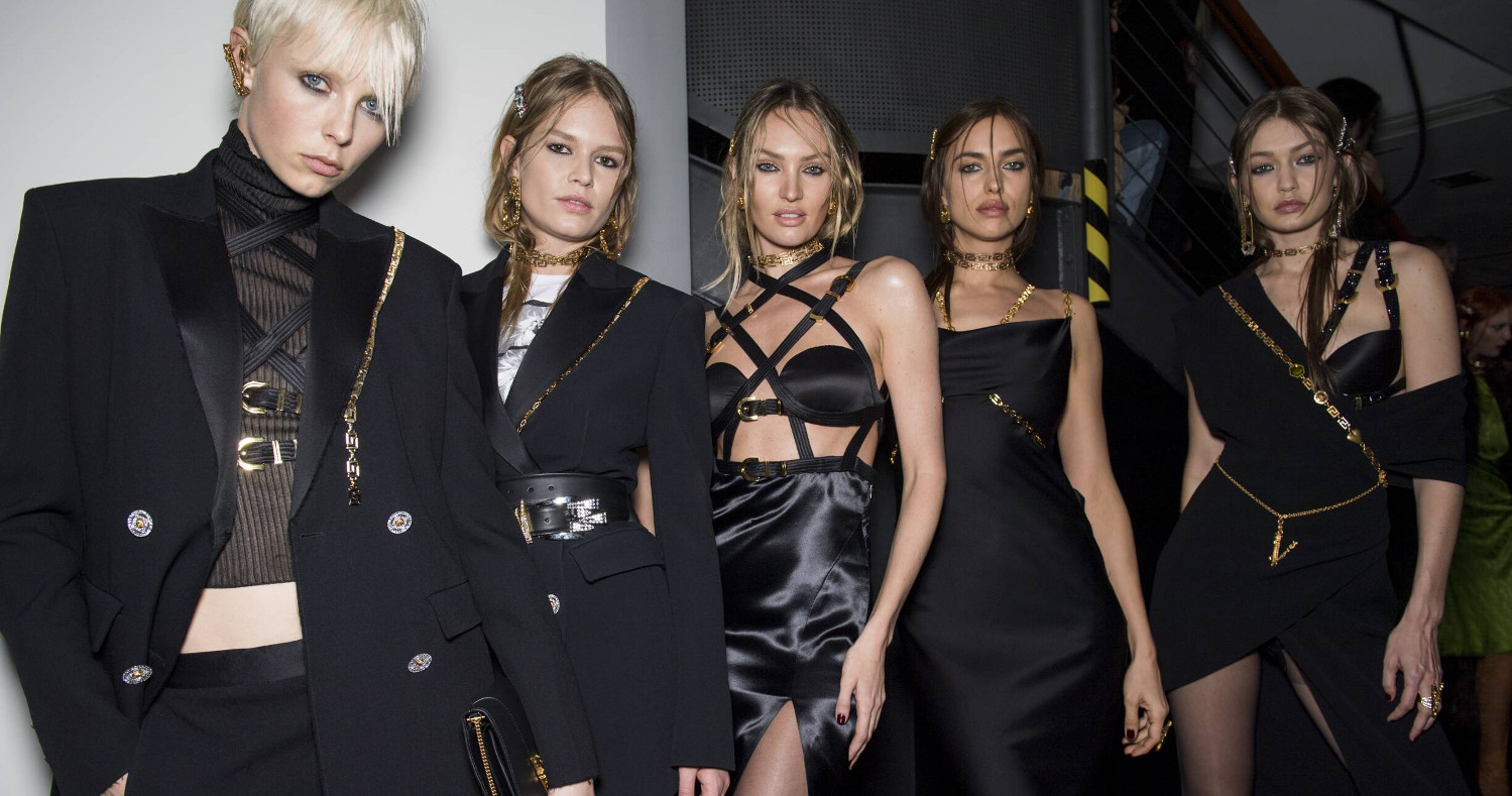 Backstage Versace Fashion Show 2019 Milan