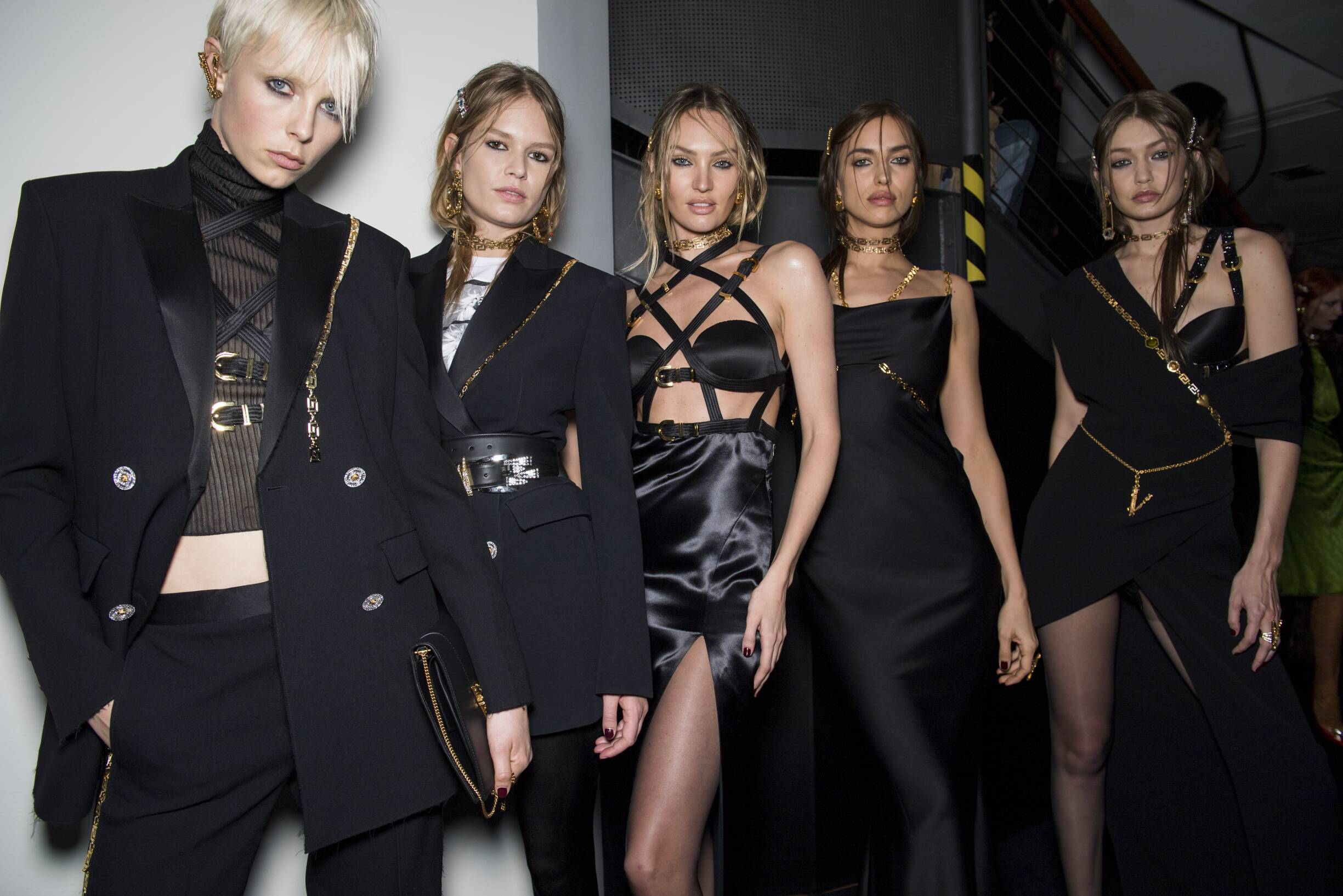 2019 Fashion Models Backstage Versace