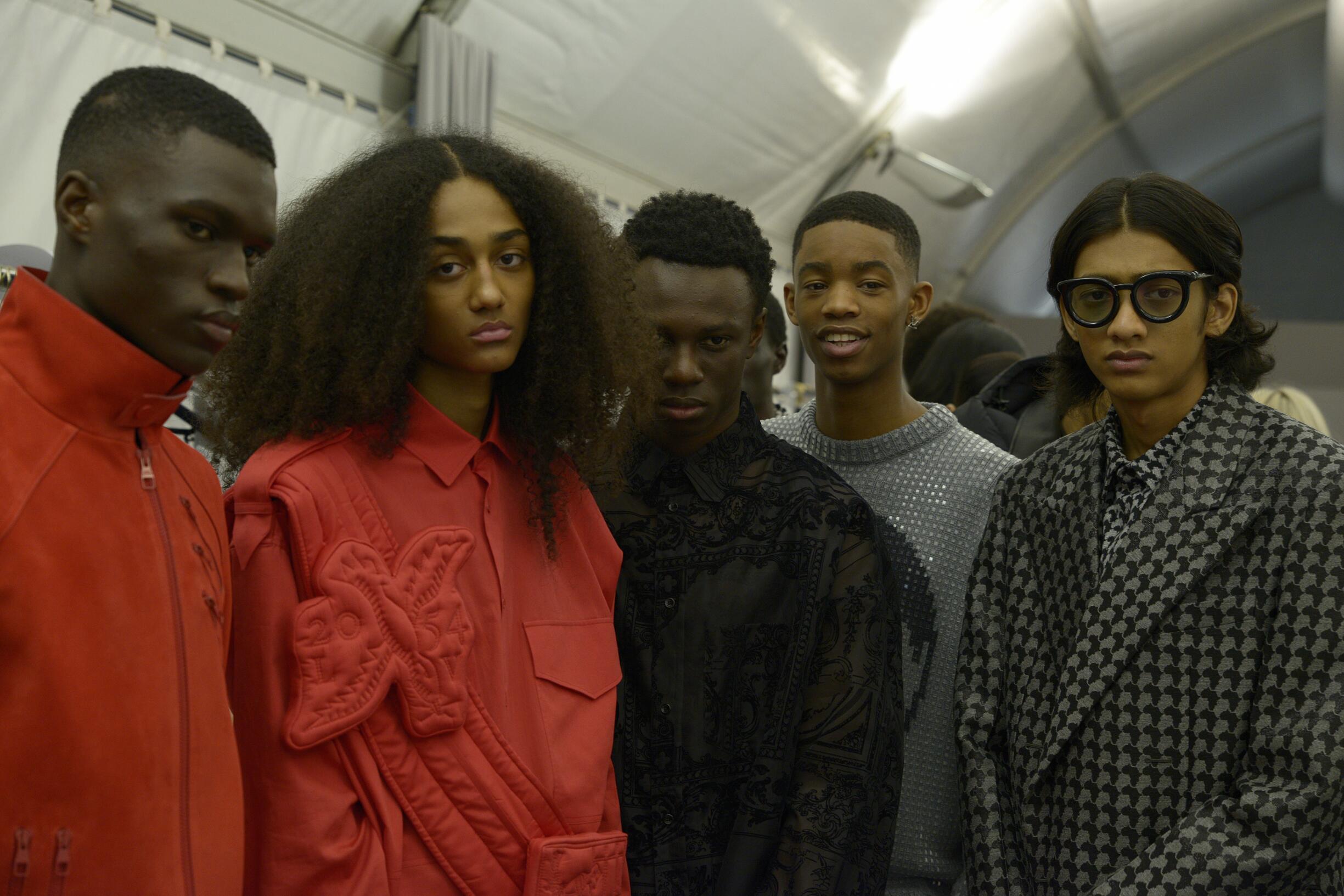 2019 Menswear Models Backstage Louis Vuitton