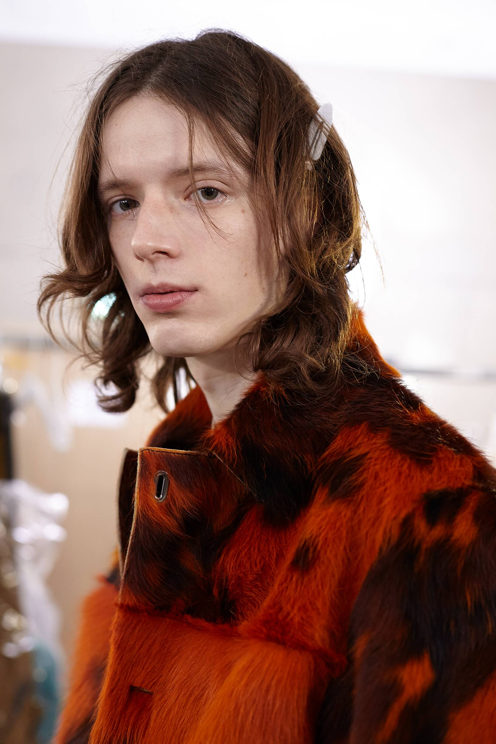 Backstage Acne Studios Model Portrait