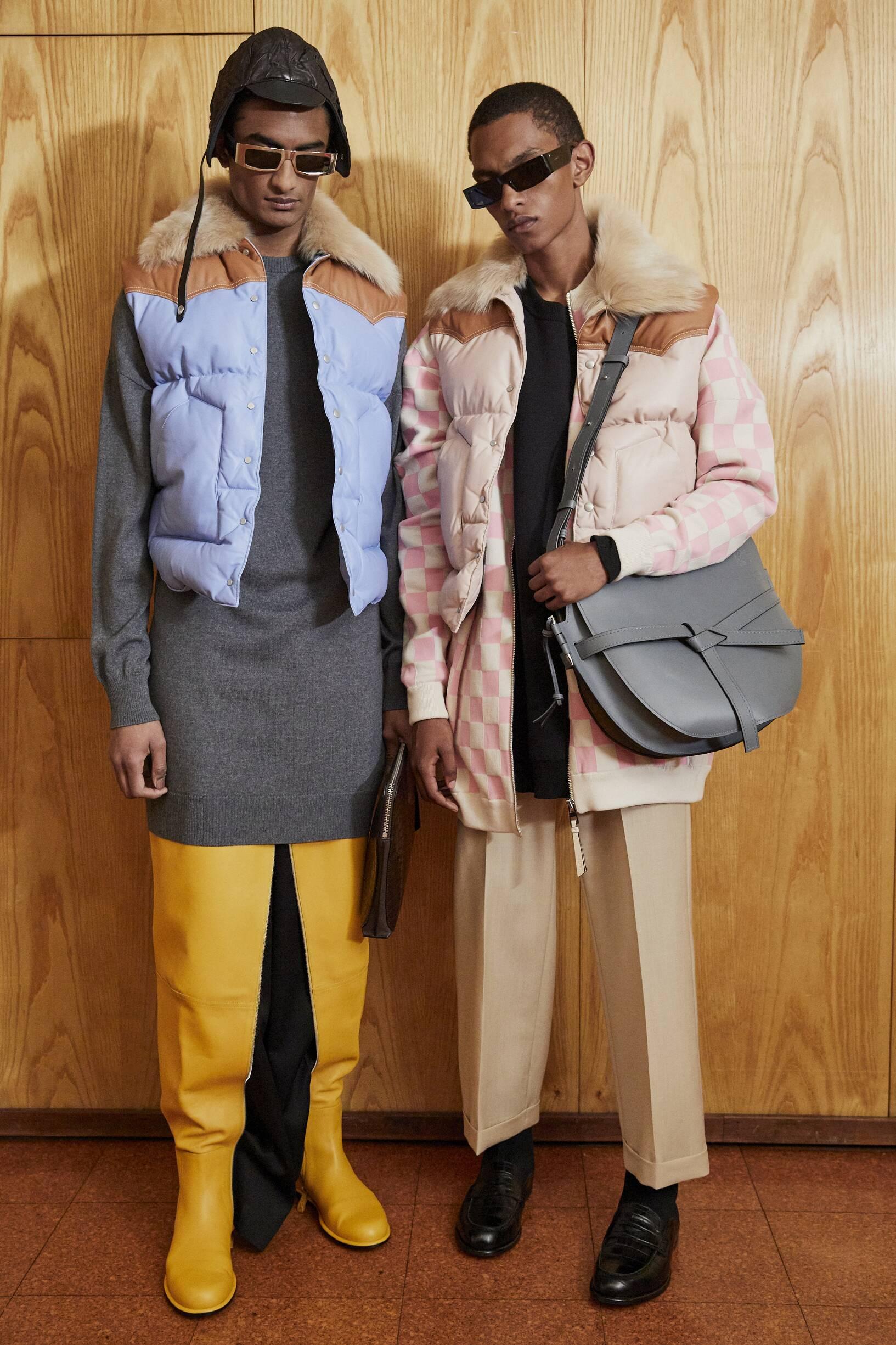 Backstage Loewe Fall Menswear 2019