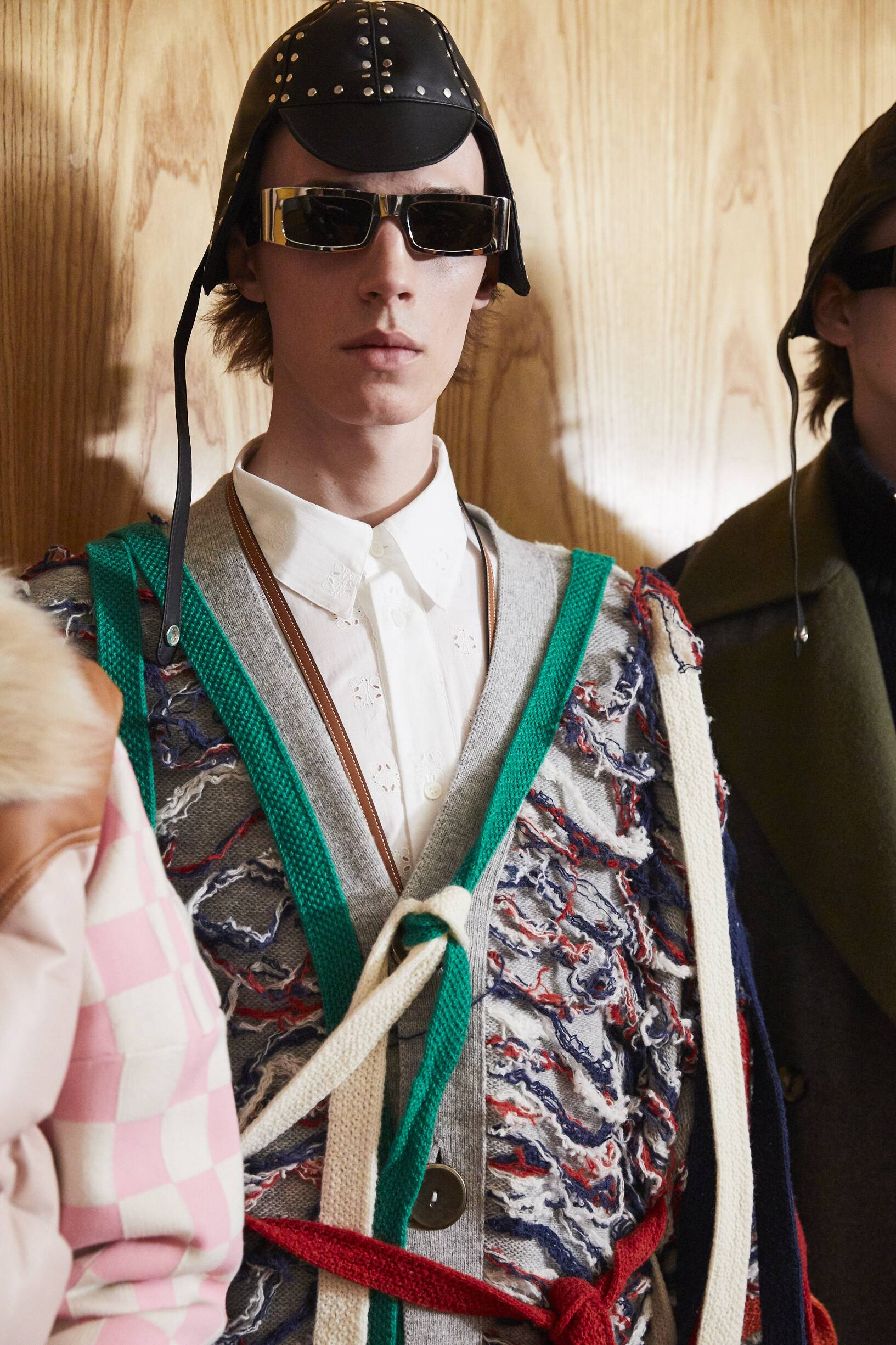 Backstage Loewe Model Fall Winter 2019