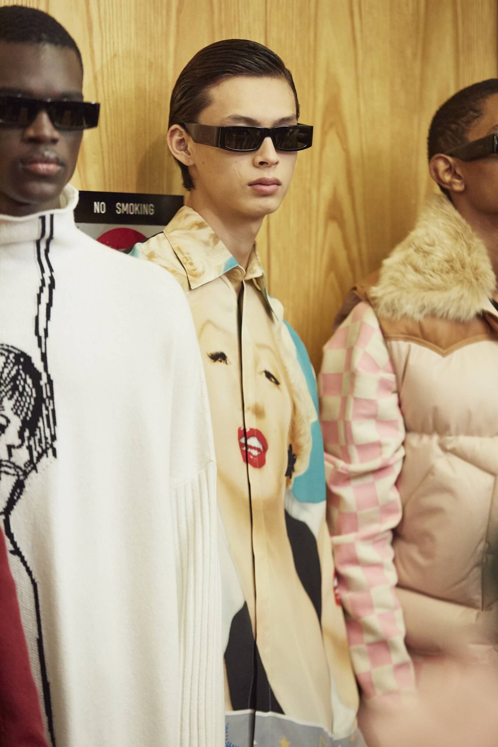 Backstage Loewe Paris 2019 Fall Winter 2019 Collection