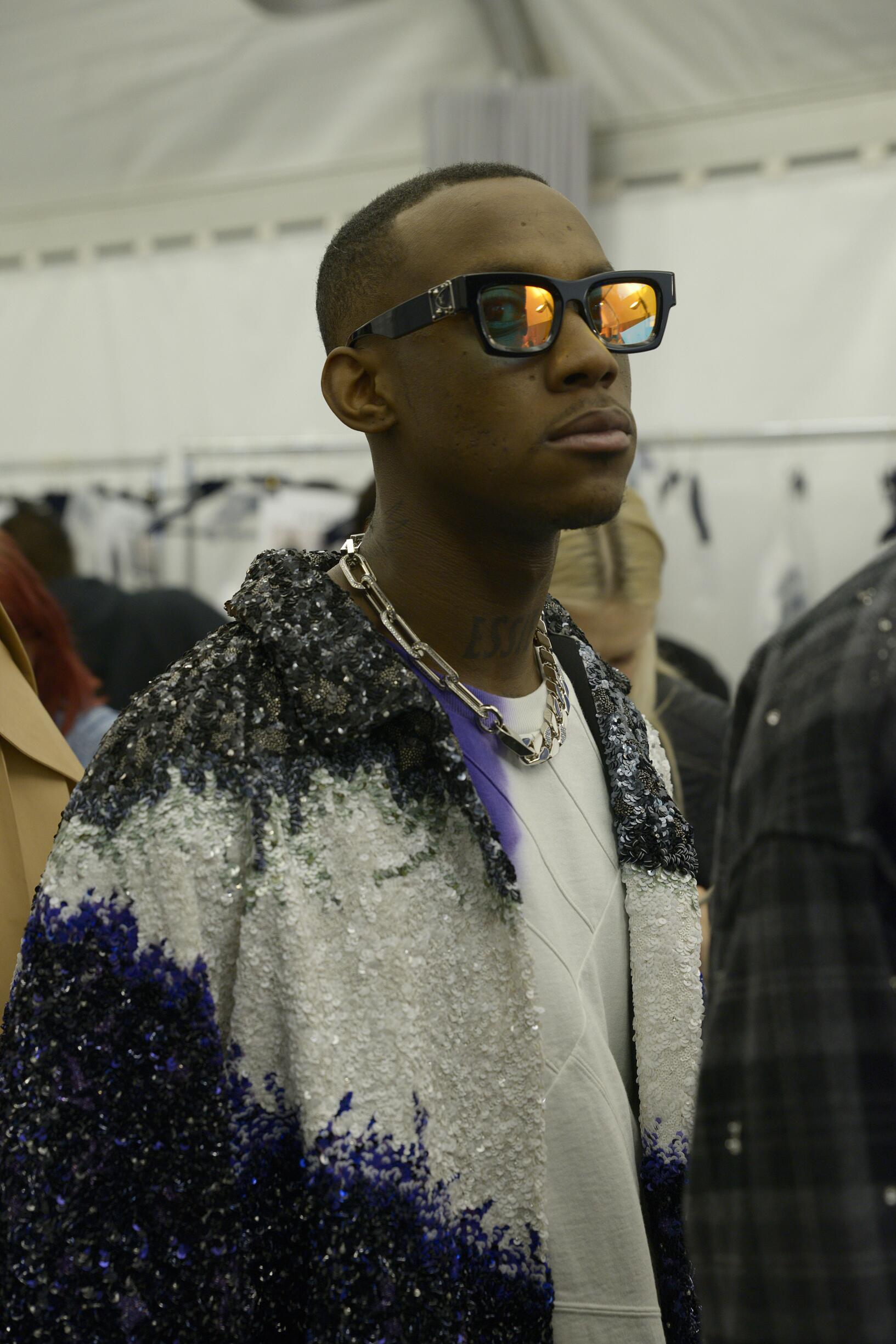 Backstage Louis Vuitton Model Fall Winter 2019