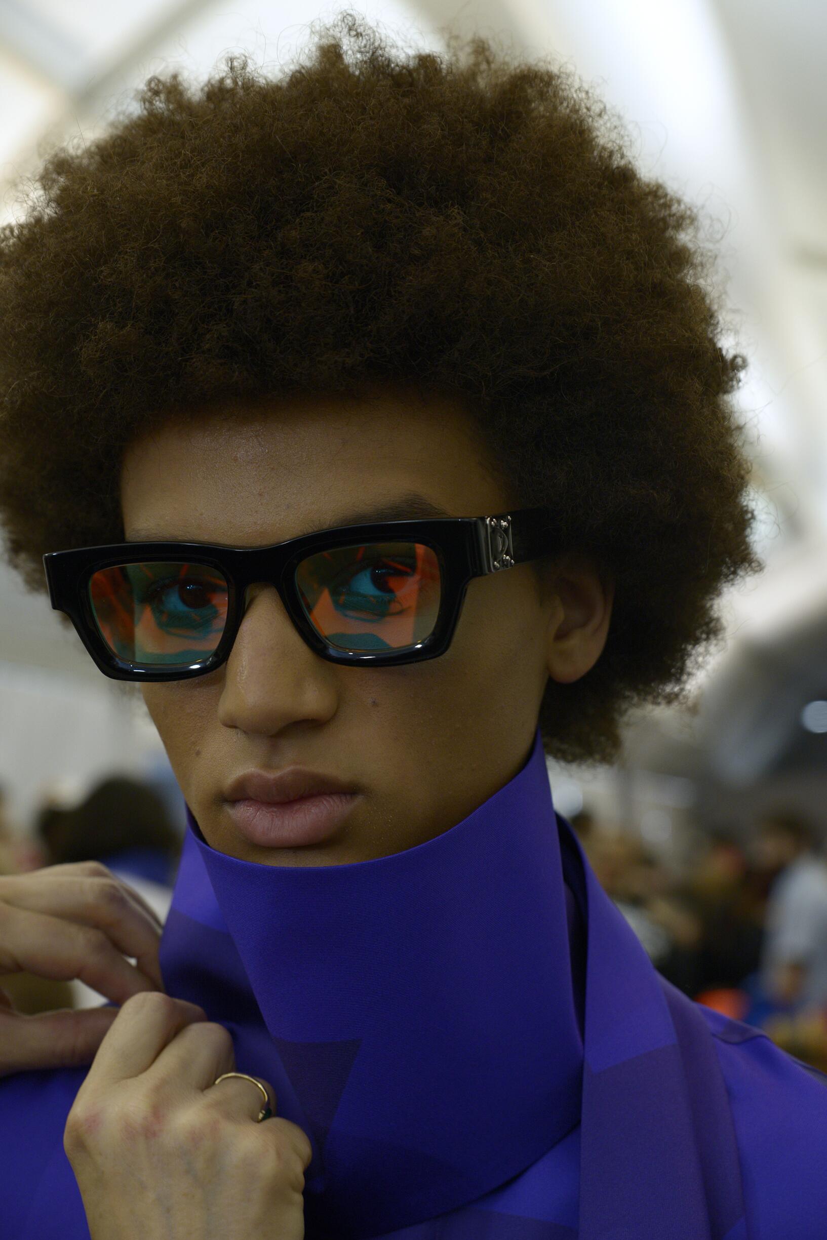 Backstage Louis Vuitton Model Portrait