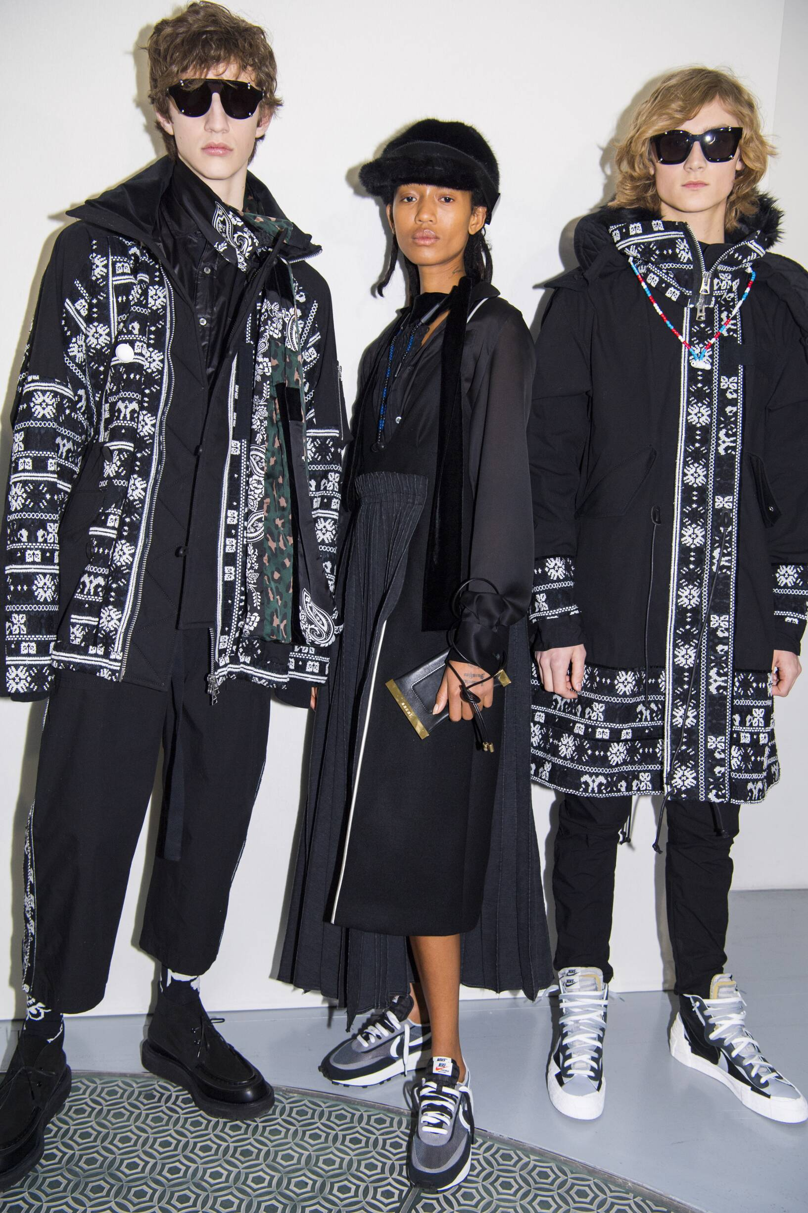 Backstage Sacai Fashion Trends 2019