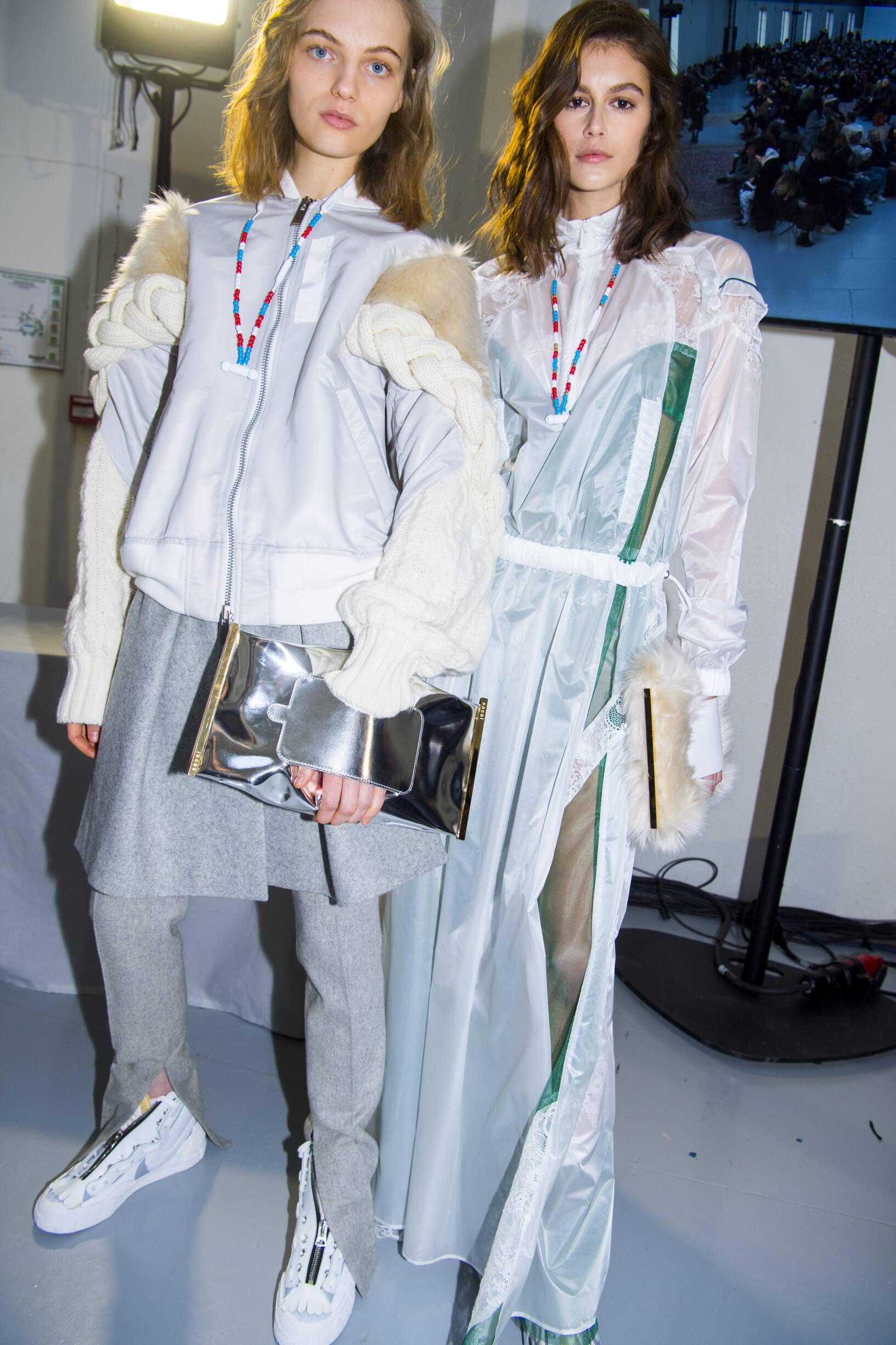 Backstage Sacai Model Womenswear
