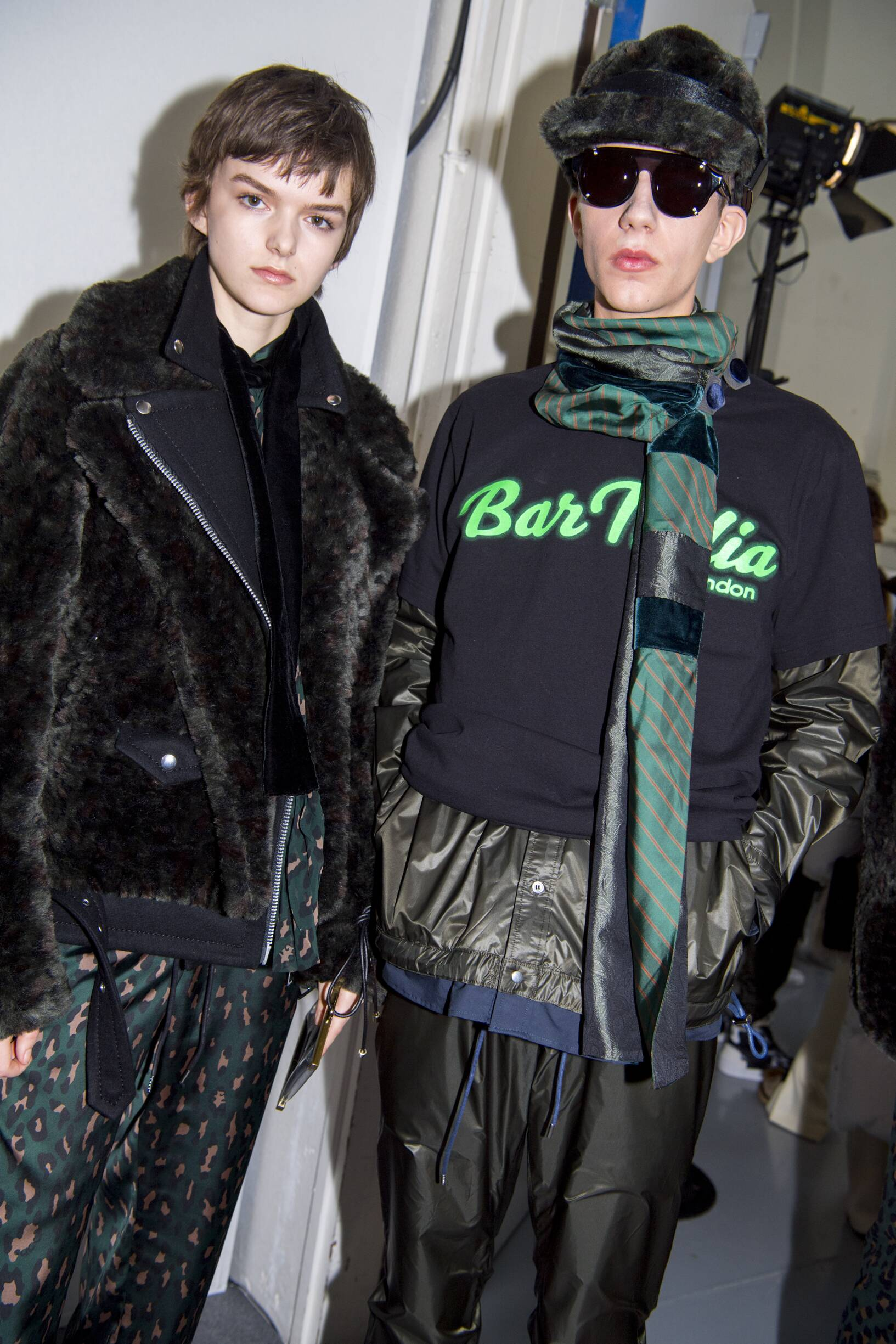 Backstage Sacai Models Fall Winter 2019