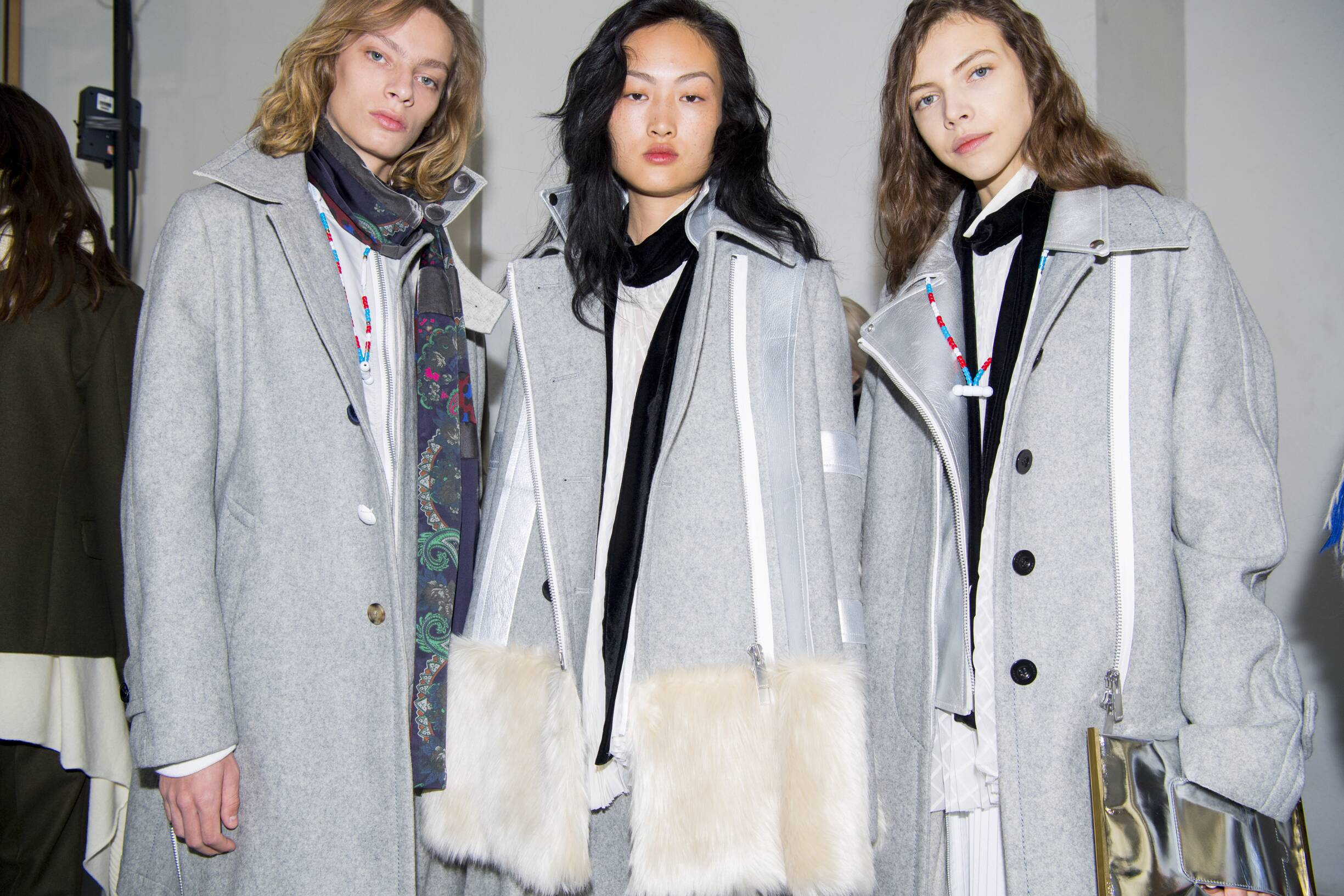 Backstage Sacai Models Womenswear Trends 2019