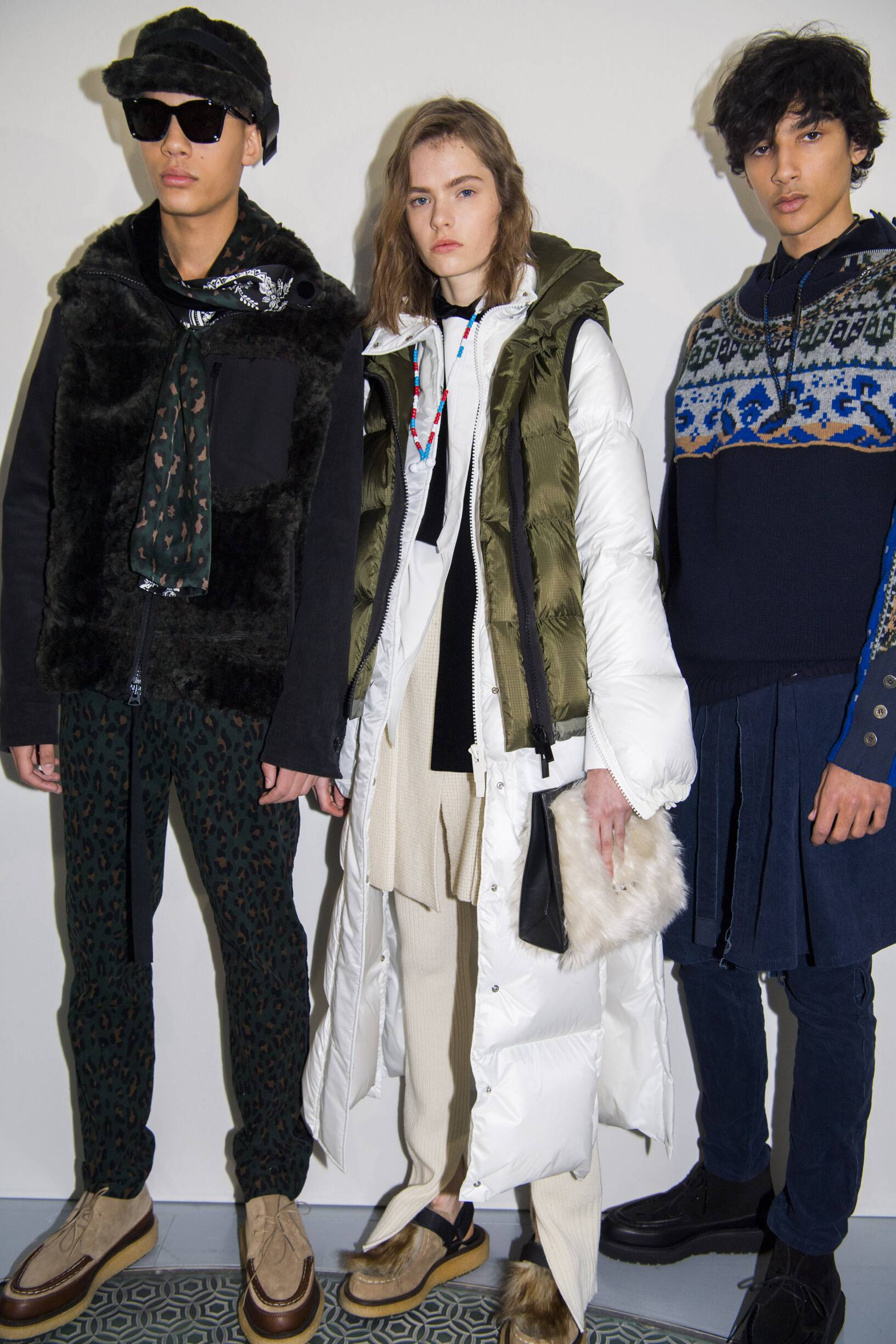 Backstage Sacai Paris 2019 Fall Winter 2019 Collection