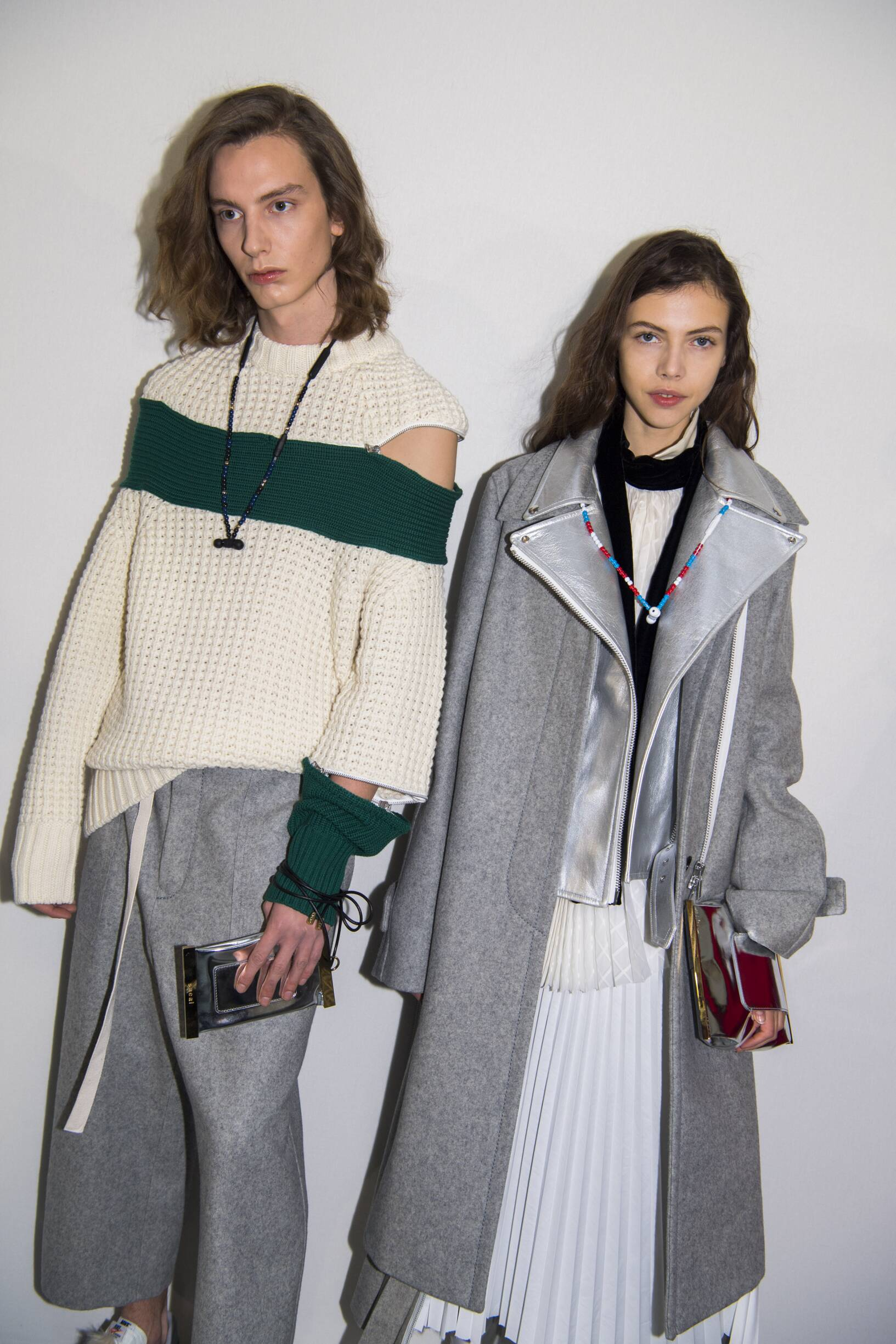 Backstage Sacai Paris Fashion Week Models