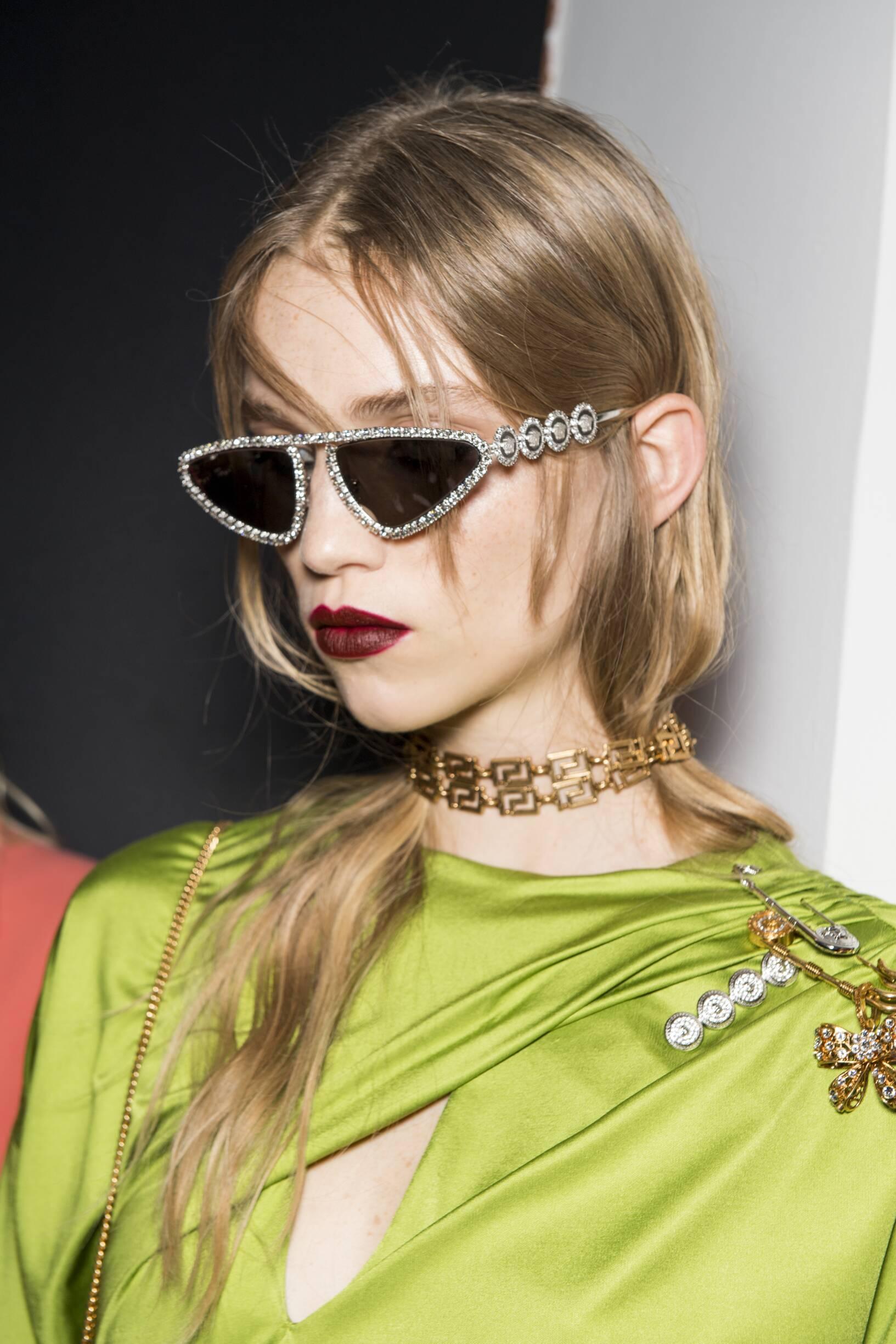 Backstage Versace Fall Womenswear 2019