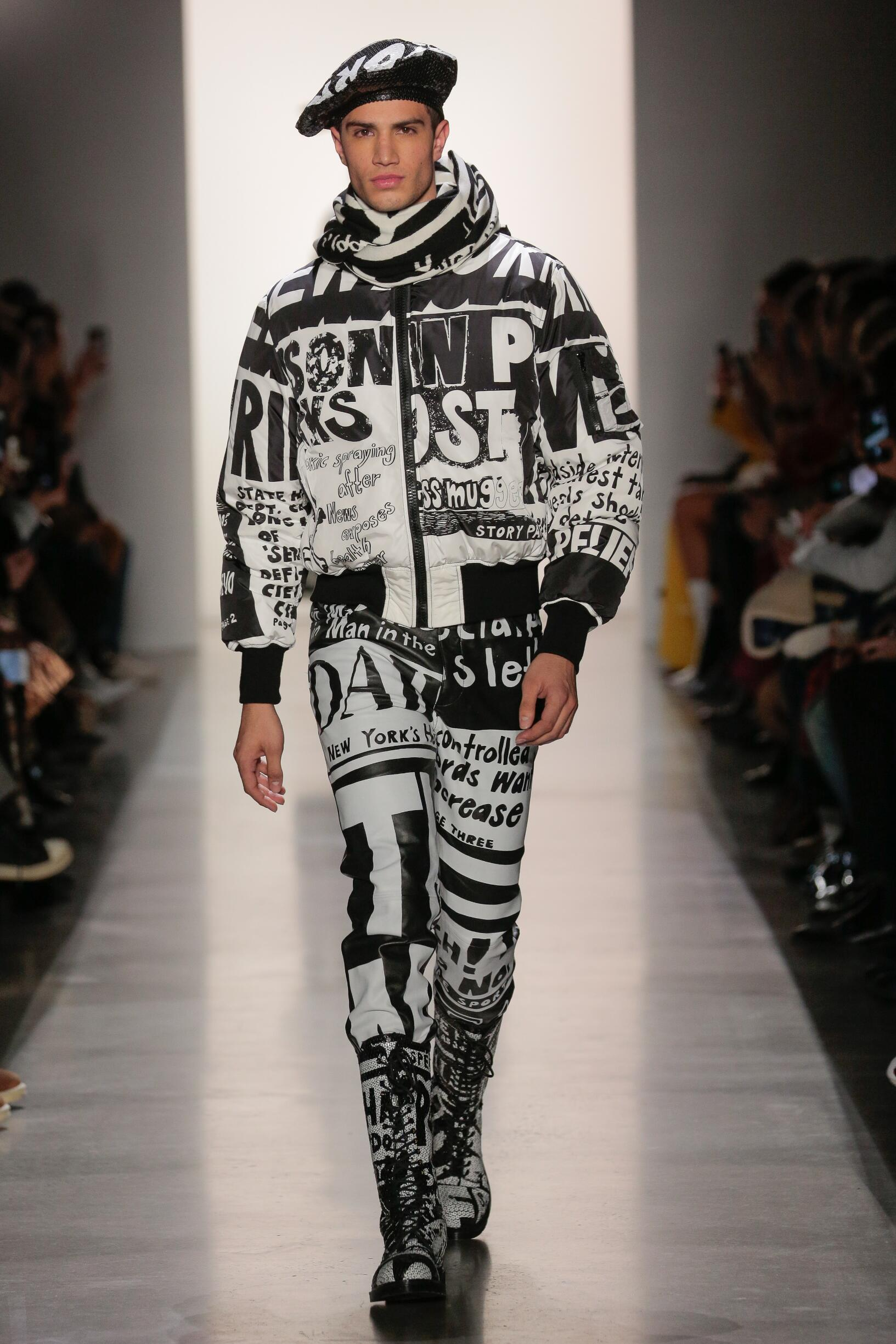 Catwalk Jeremy Scott Men Fashion Show Winter 2019