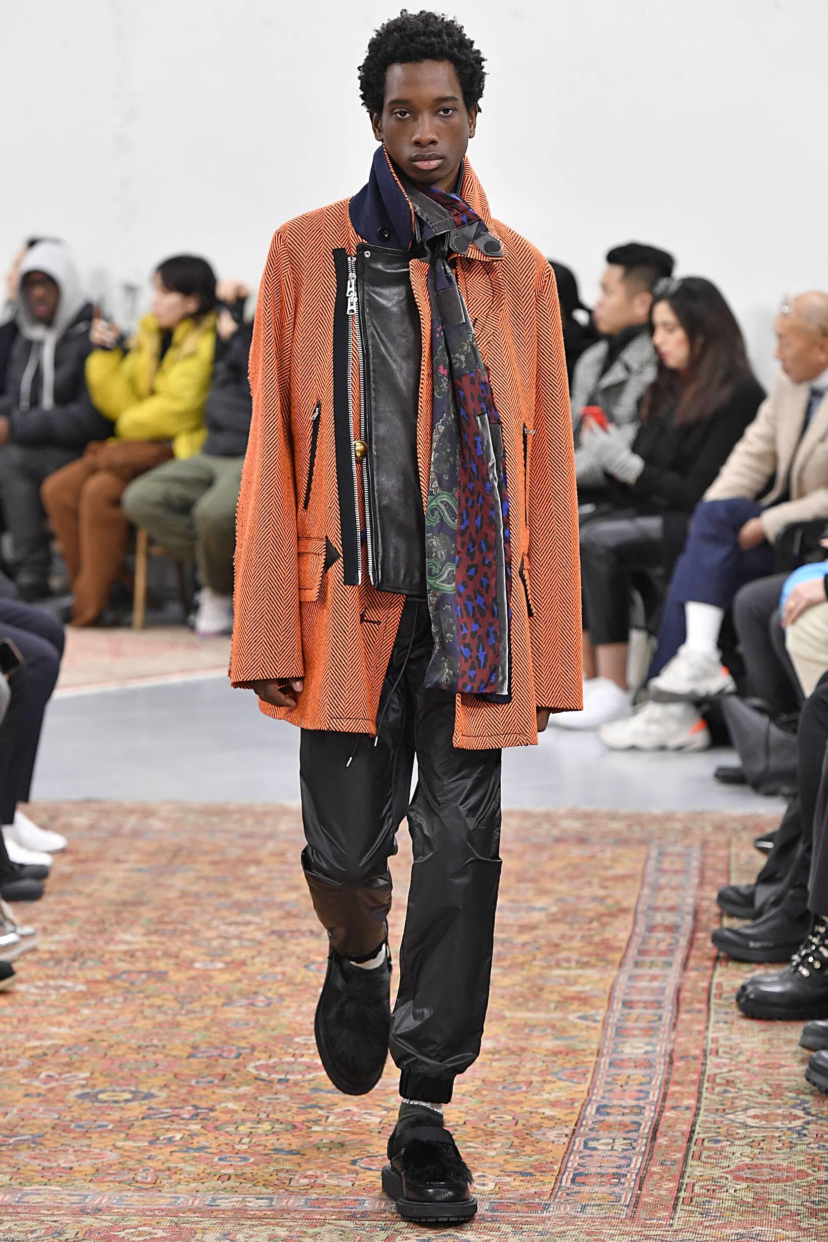Fashion 2019 Runway Man Sacai Winter
