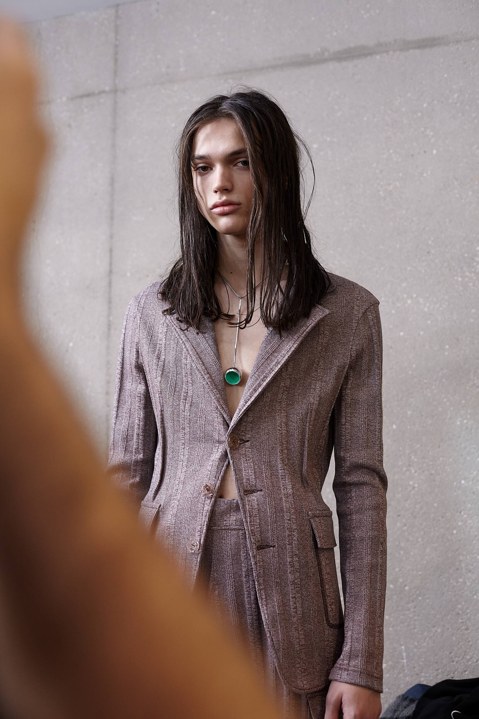 Fashion Model Backstage Acne Studios Fall Winter 2019 Collection
