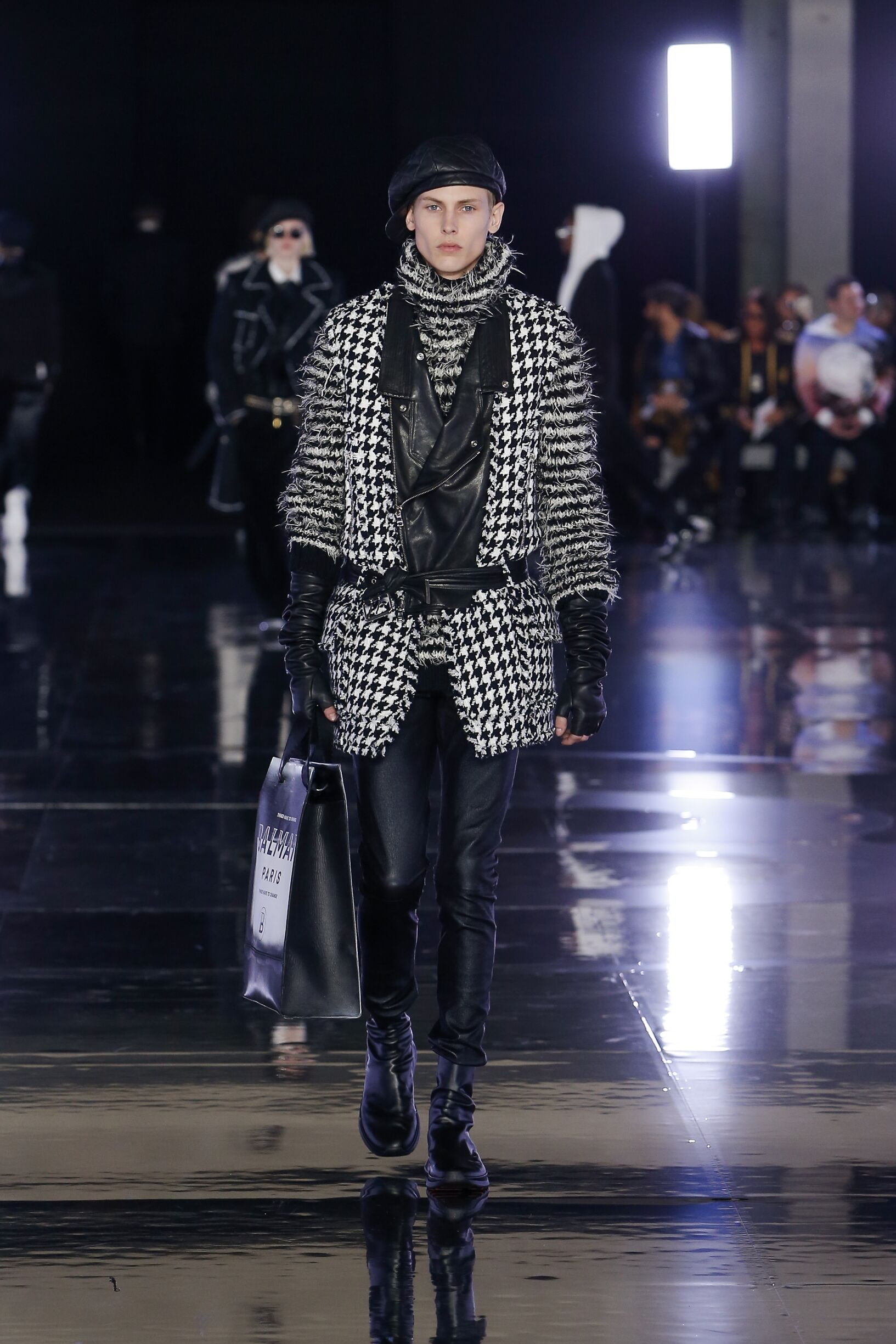 Fashion Model Balmain Catwalk