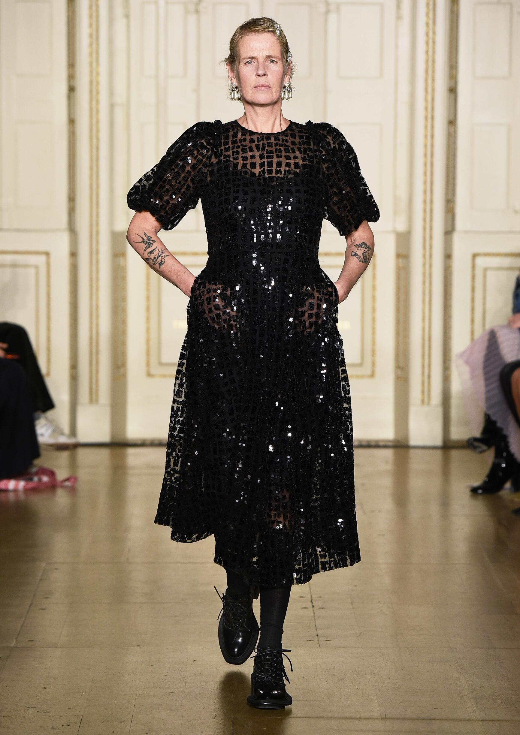 Fashion Model Simone Rocha Catwalk