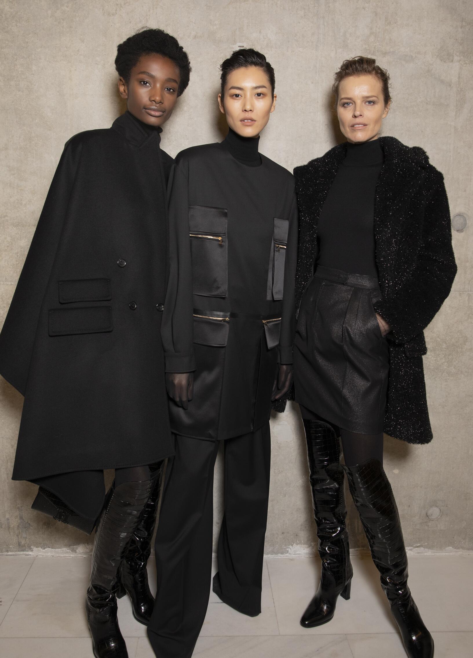 Fashion Models Backstage Max Mara Fall Winter 2019 Collection