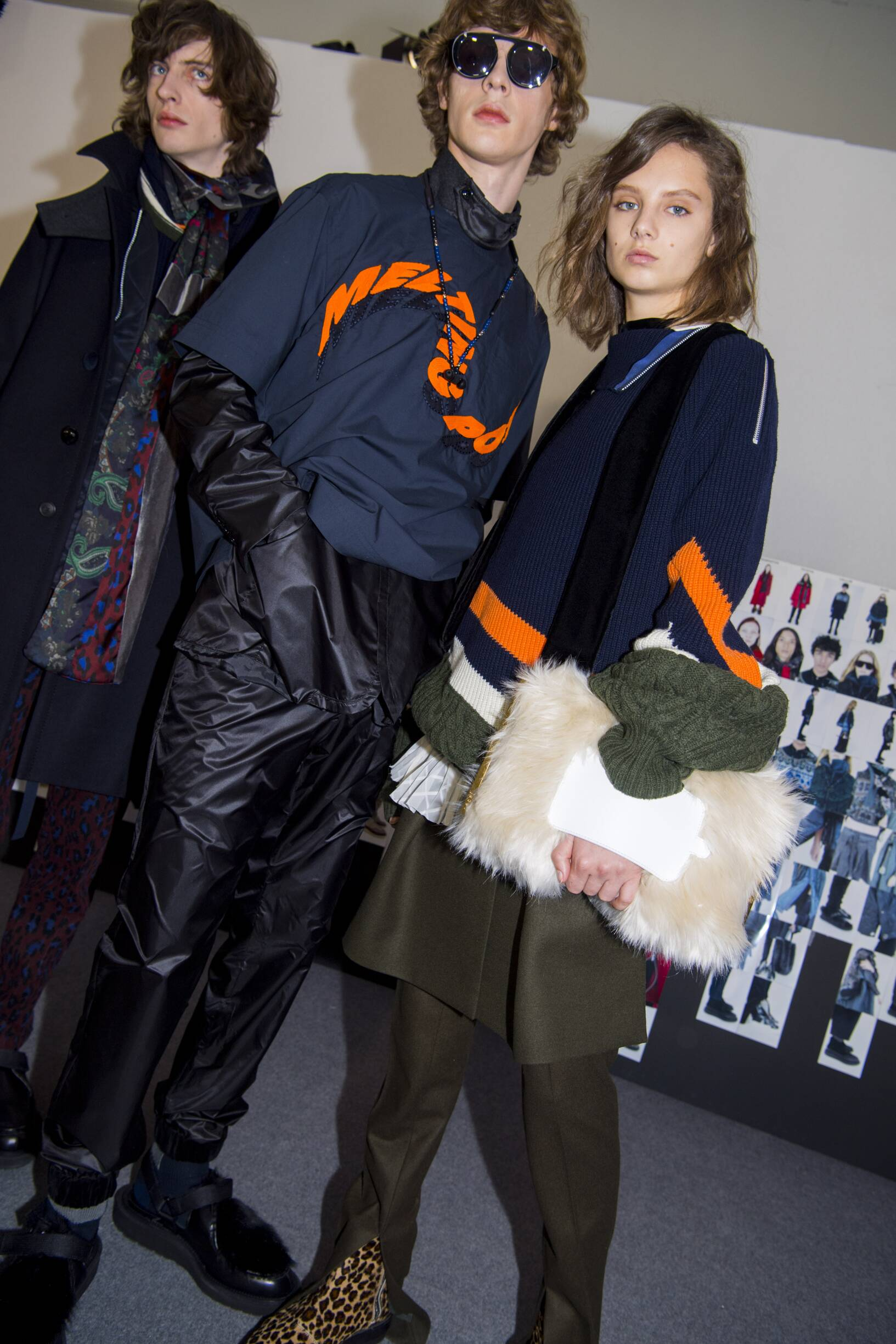 Fashion Models Backstage Sacai Fall Winter 2019 Collection