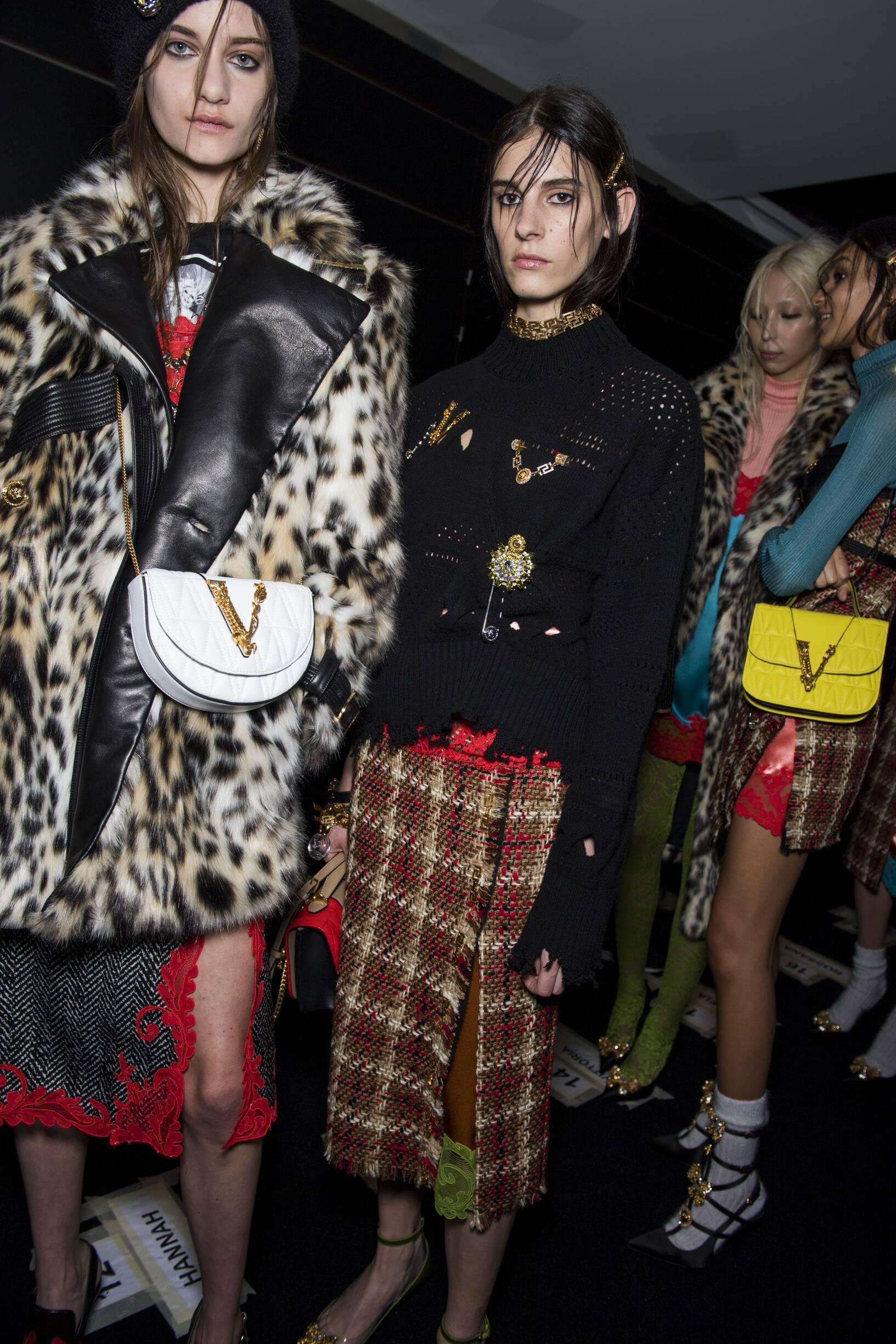 Fashion Models Backstage Versace