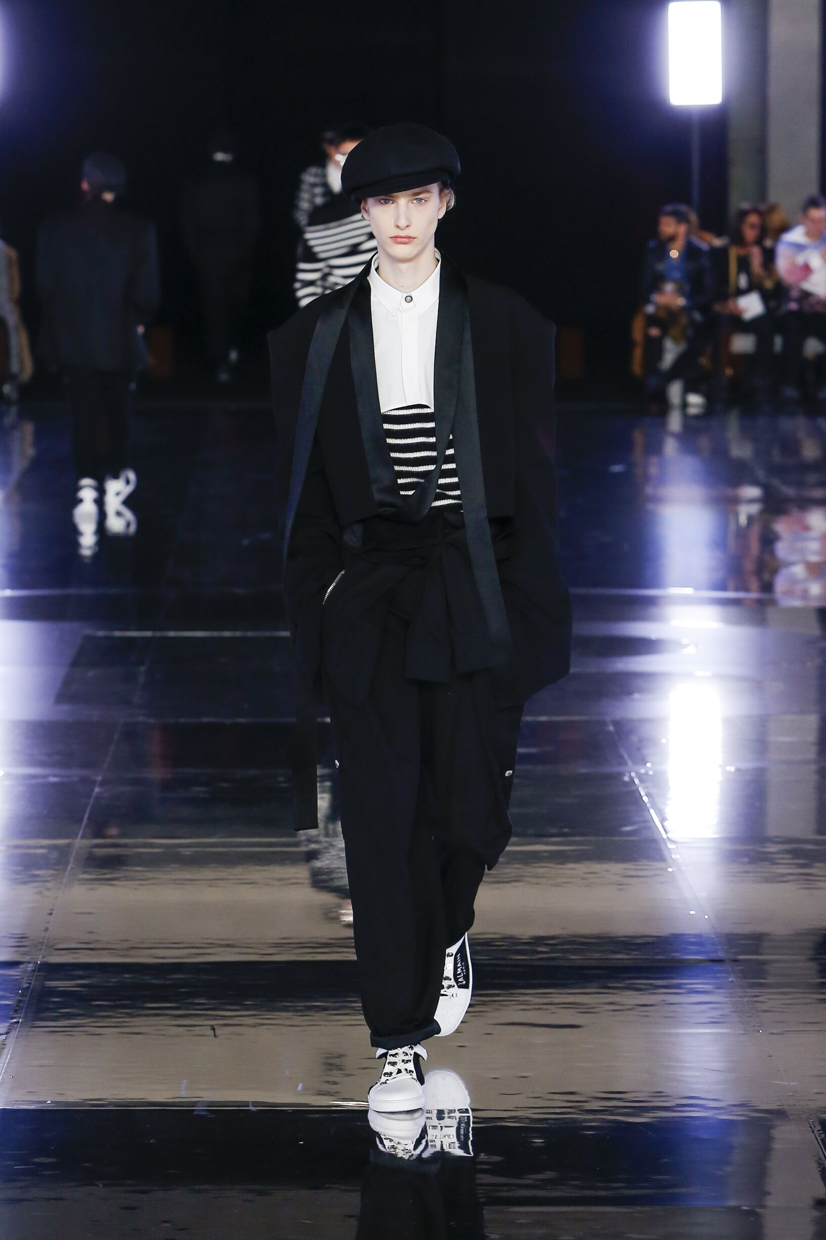 Fashion Show Man Model Balmain Catwalk