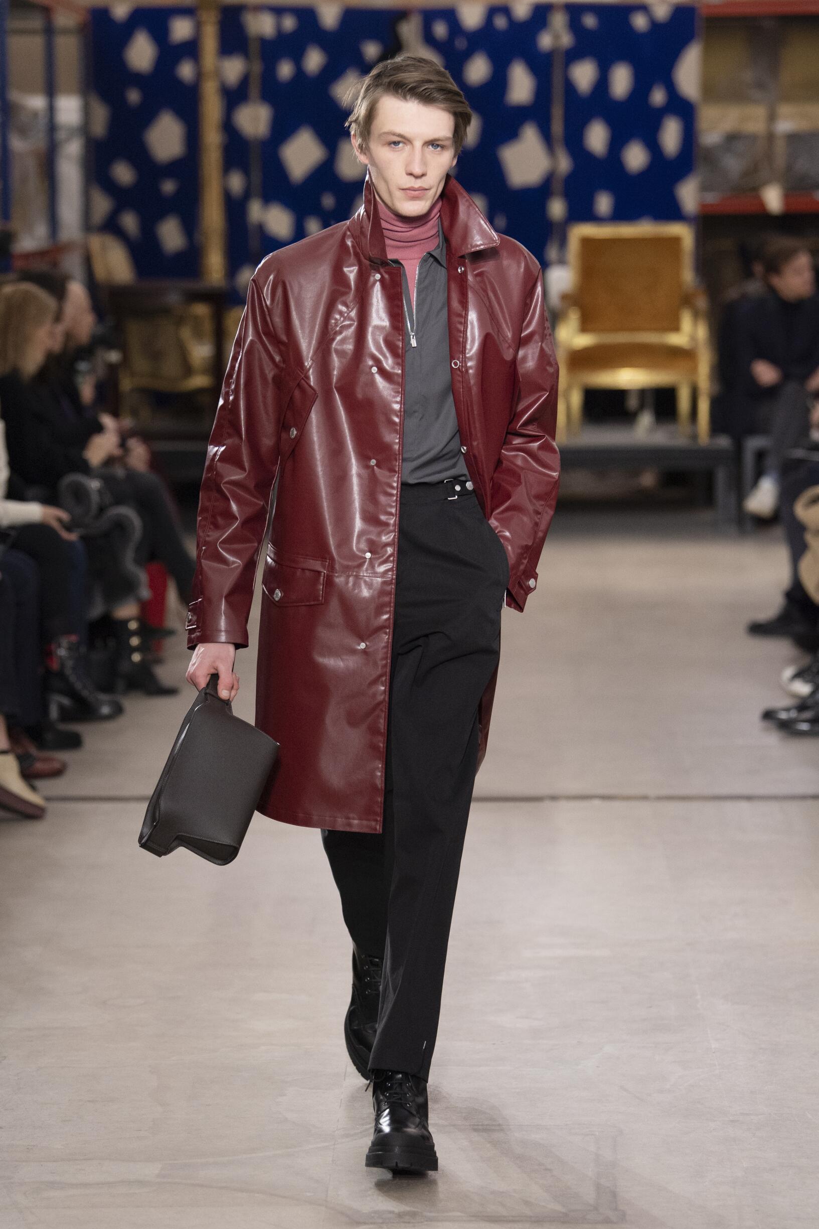 Fashion Show Man Model Hermès Catwalk