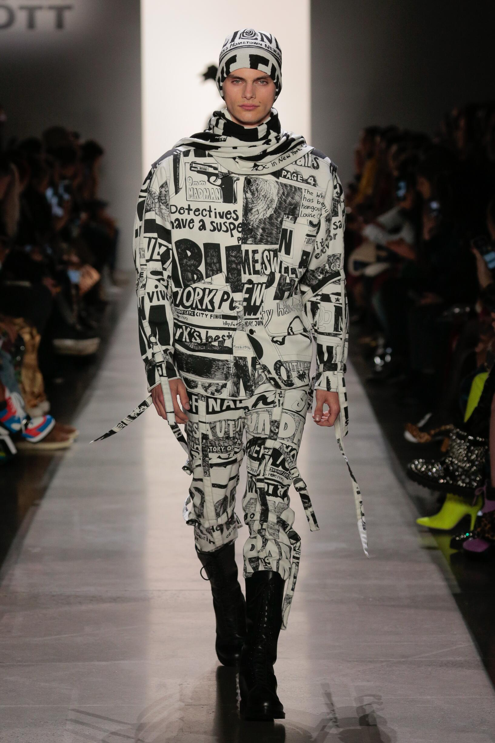 Fashion Show Man Model Jeremy Scott Catwalk