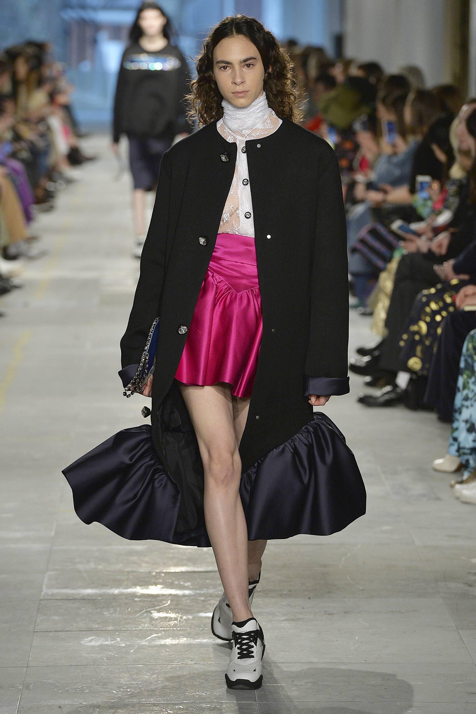 Fashion Show Woman Model Christopher Kane Catwalk