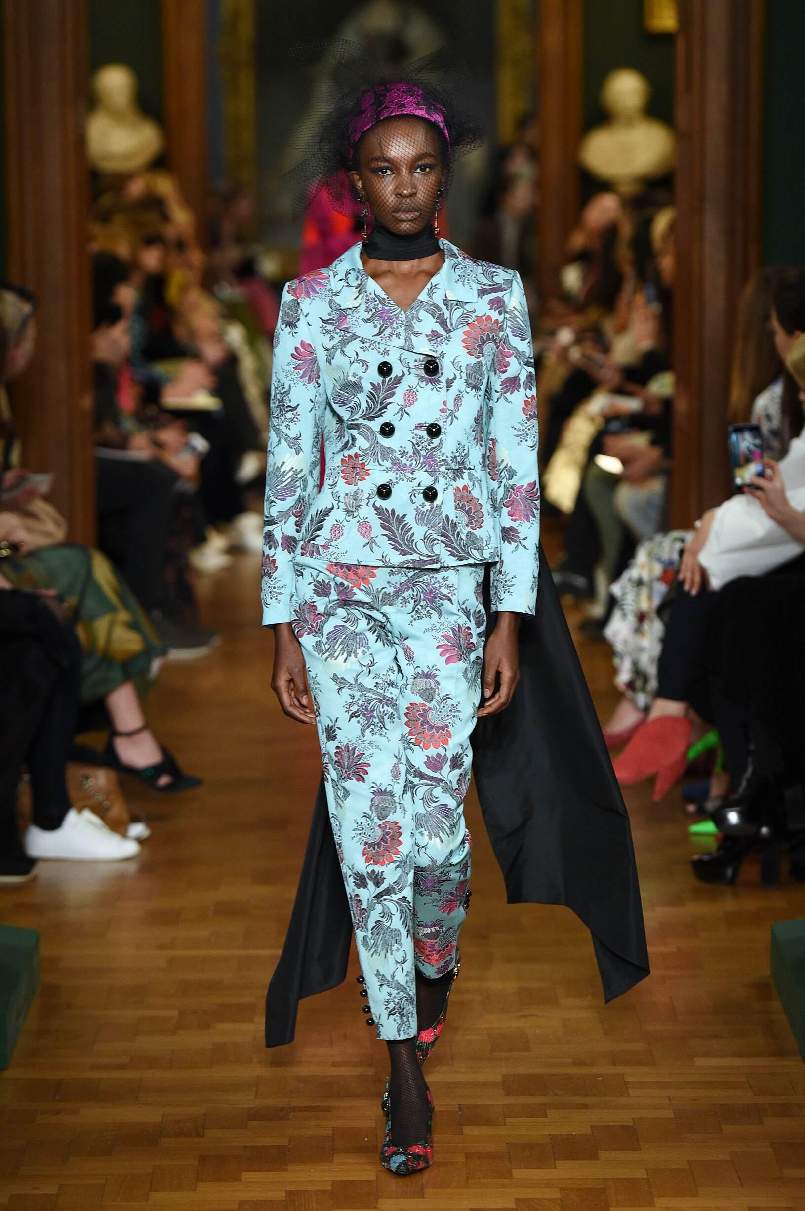 Fashion Show Woman Model Erdem Catwalk