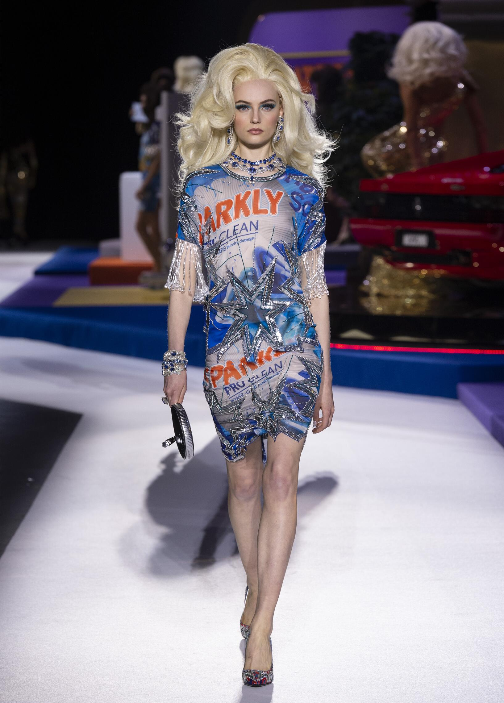 Fashion Show Woman Model Moschino Catwalk
