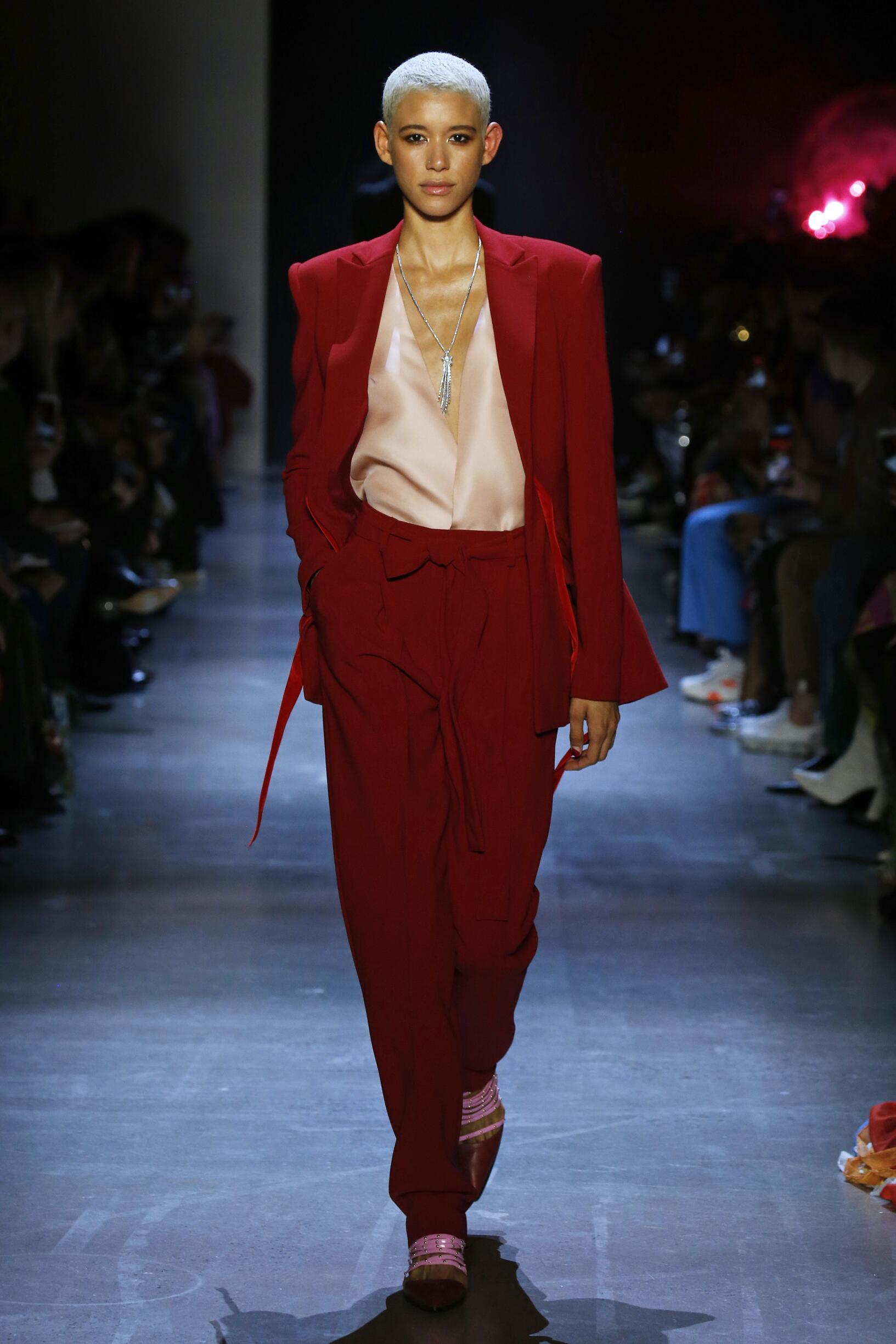 Fashion Show Woman Model Prabal Gurung Catwalk