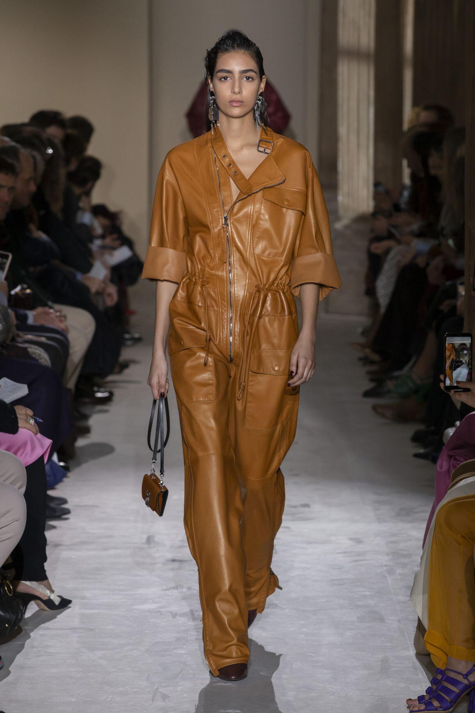 Fashion Show Woman Model Salvatore Ferragamo Catwalk
