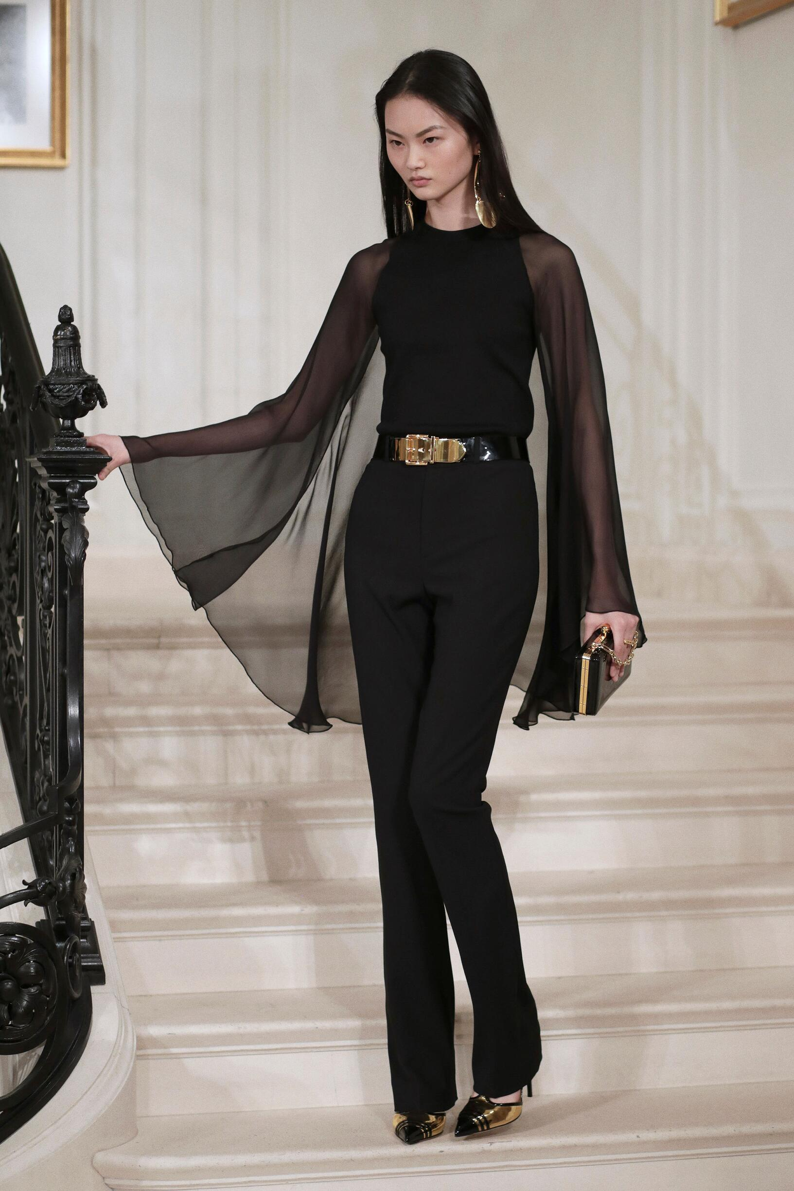 Fashion Woman Model Ralph Lauren Catwalk