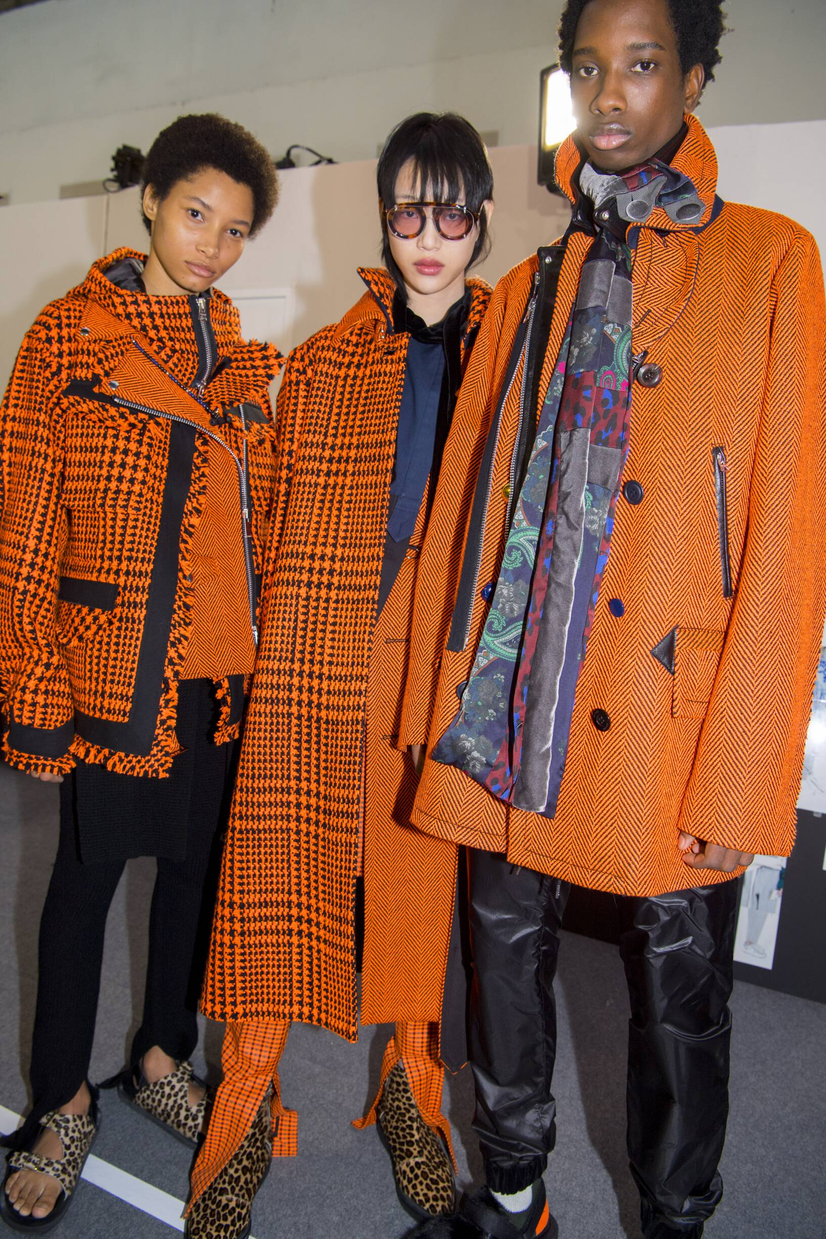 Models Backstage Sacai Fall Winter 2019 Men Pre-Fall Woman Collection Paris Fashion Week