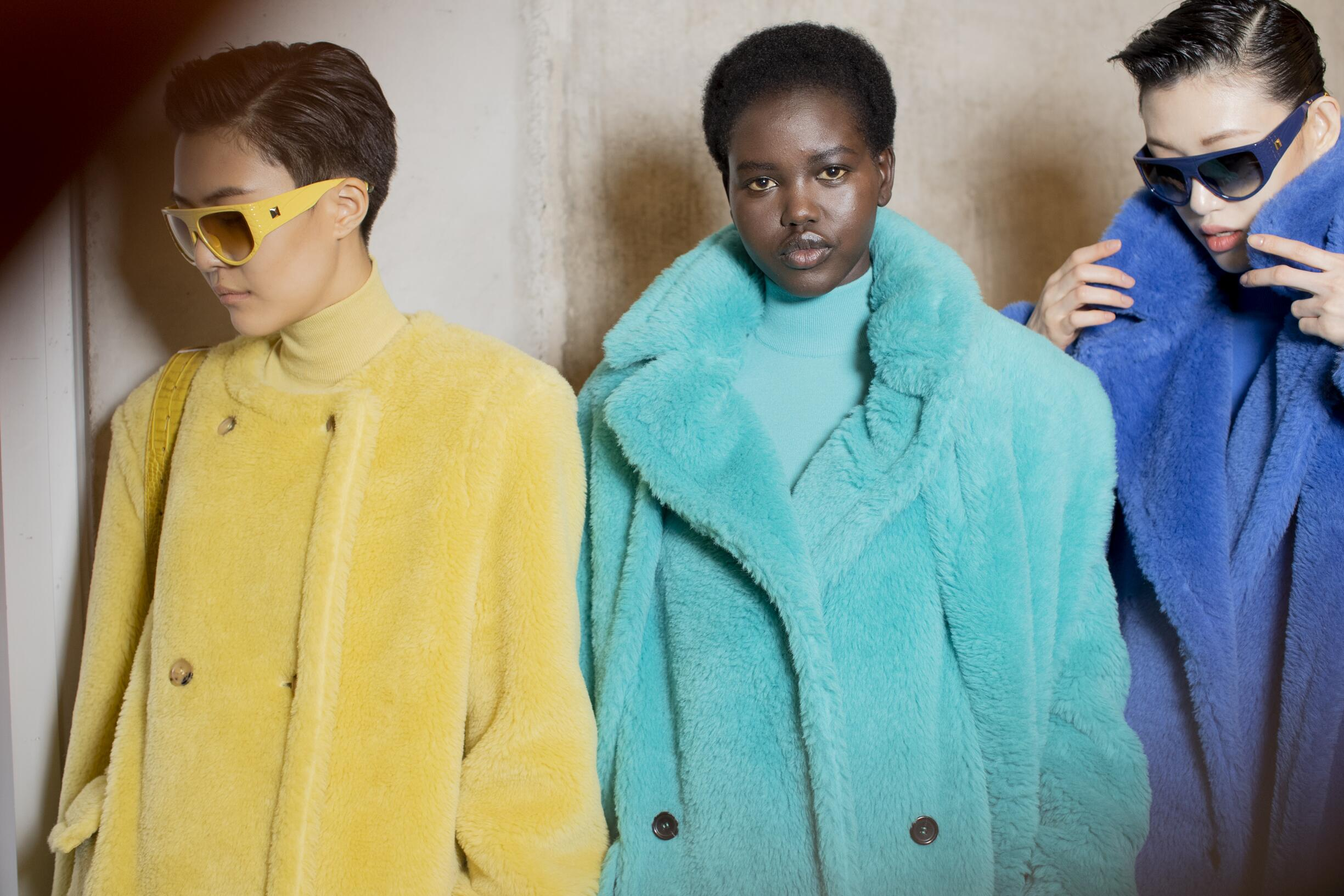 Models Fall Winter 2019 Backstage Max Mara
