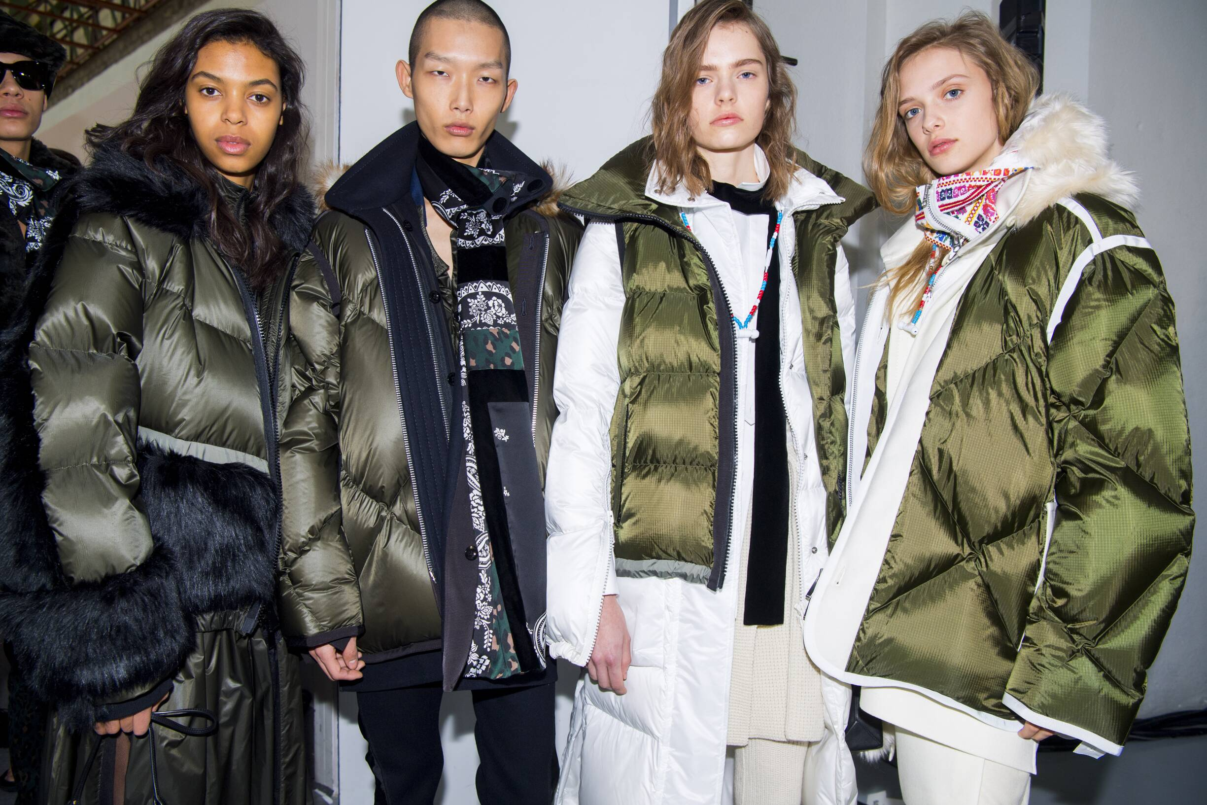 Models Fall Winter 2019 Backstage Sacai