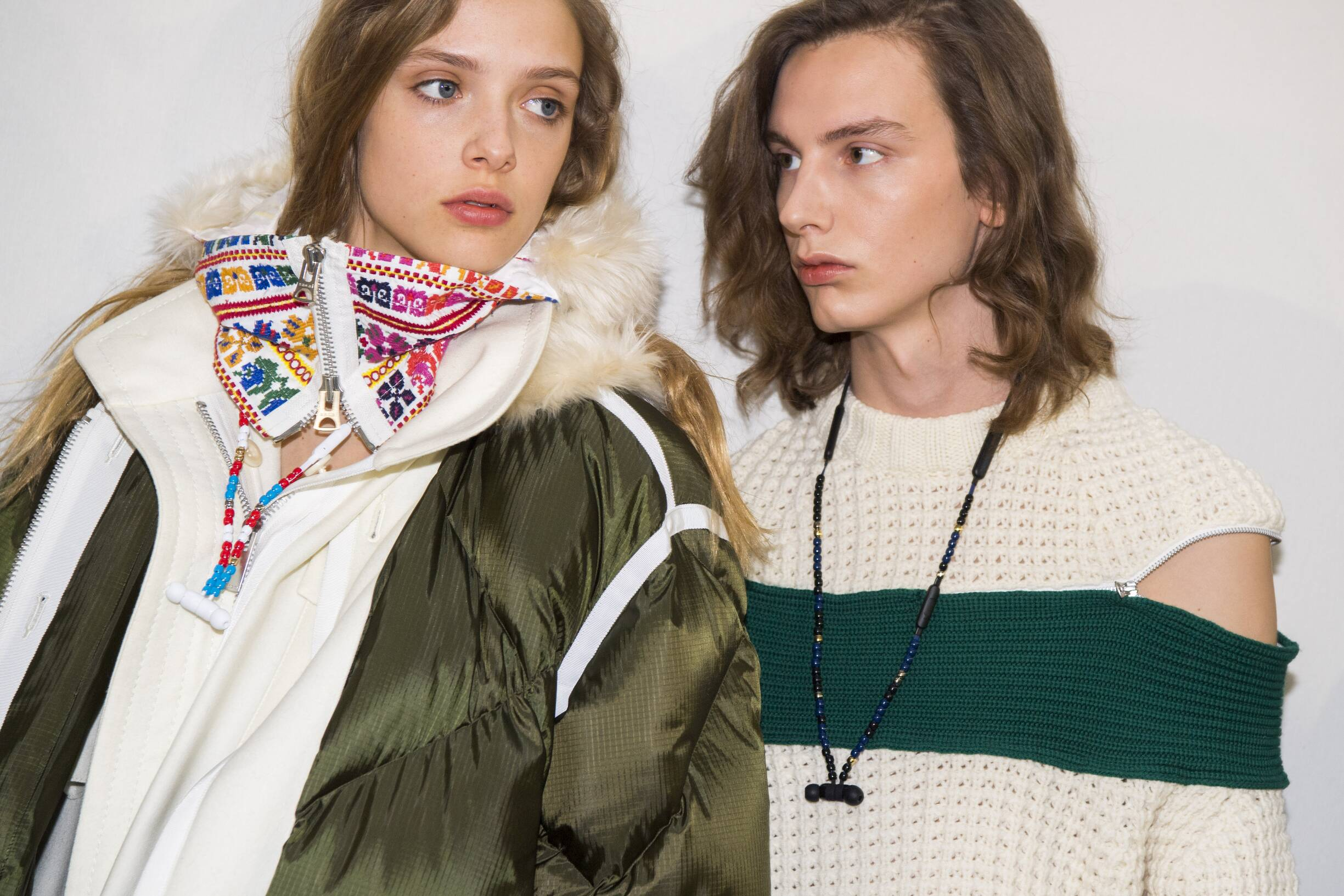 Models Paris Backstage Sacai