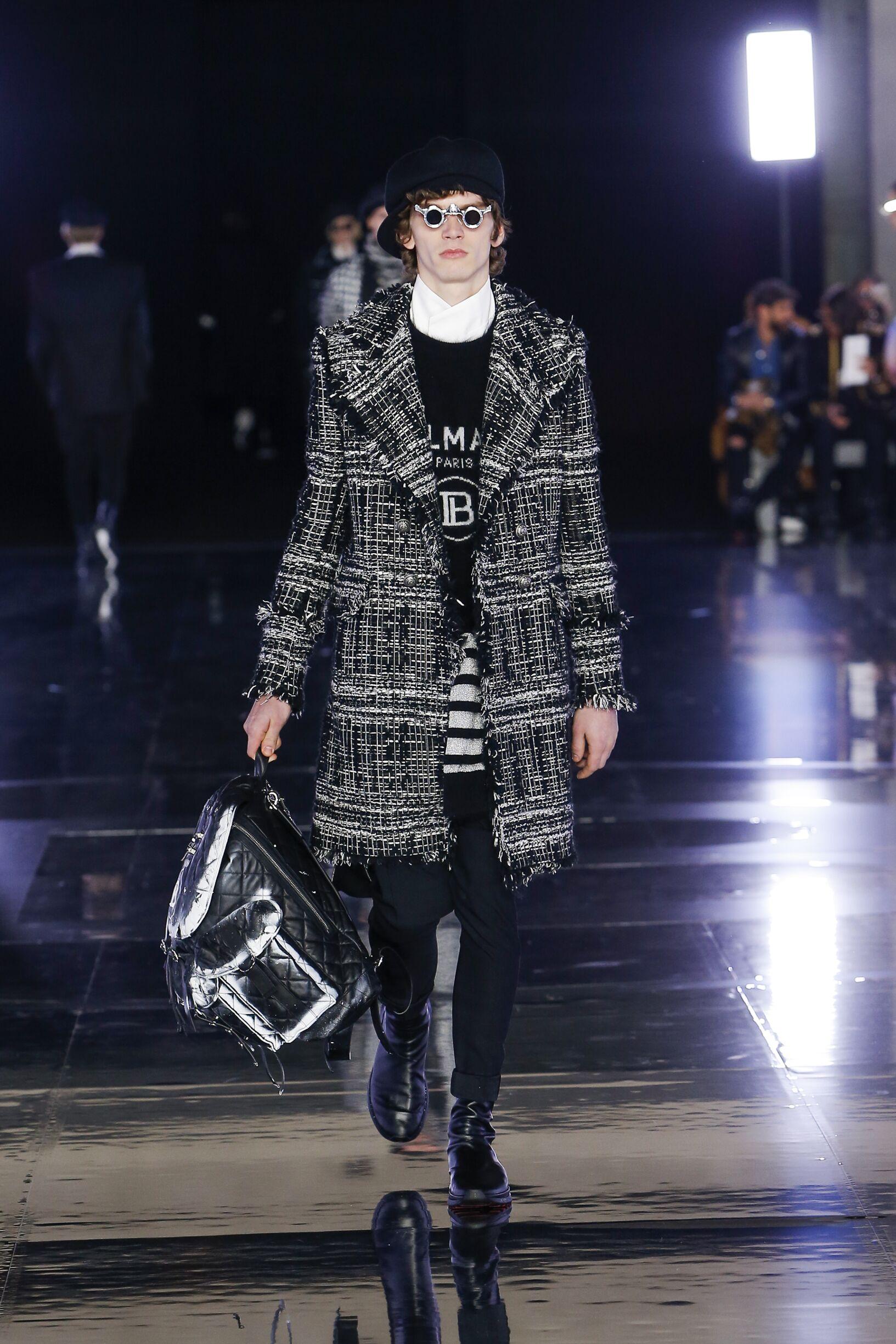 Runway Balmain Fall Winter 2019 Collection Paris Fashion Week