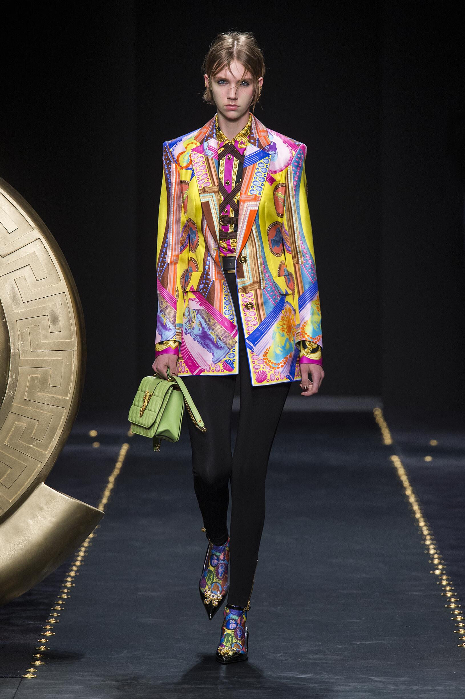 Woman FW 2019 Versace Show Milan Fashion Week