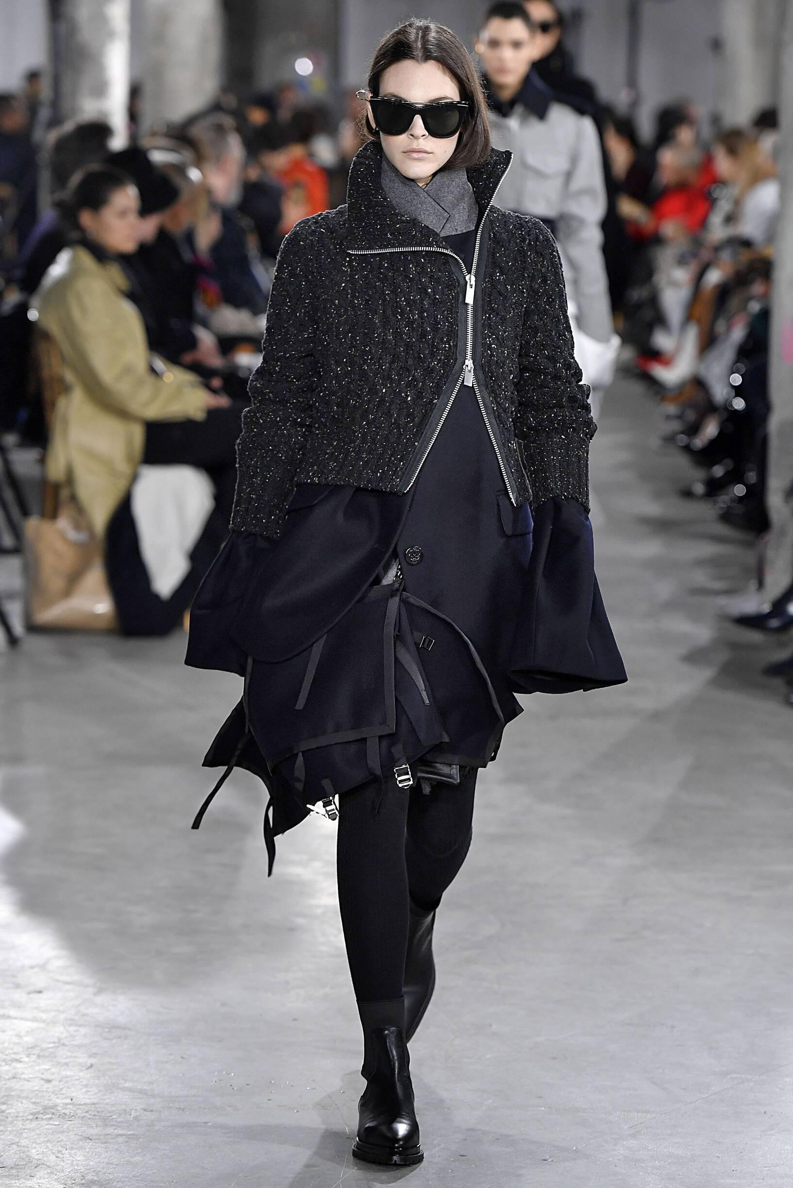 2019 Catwalk Sacai Woman Fashion Show Winter