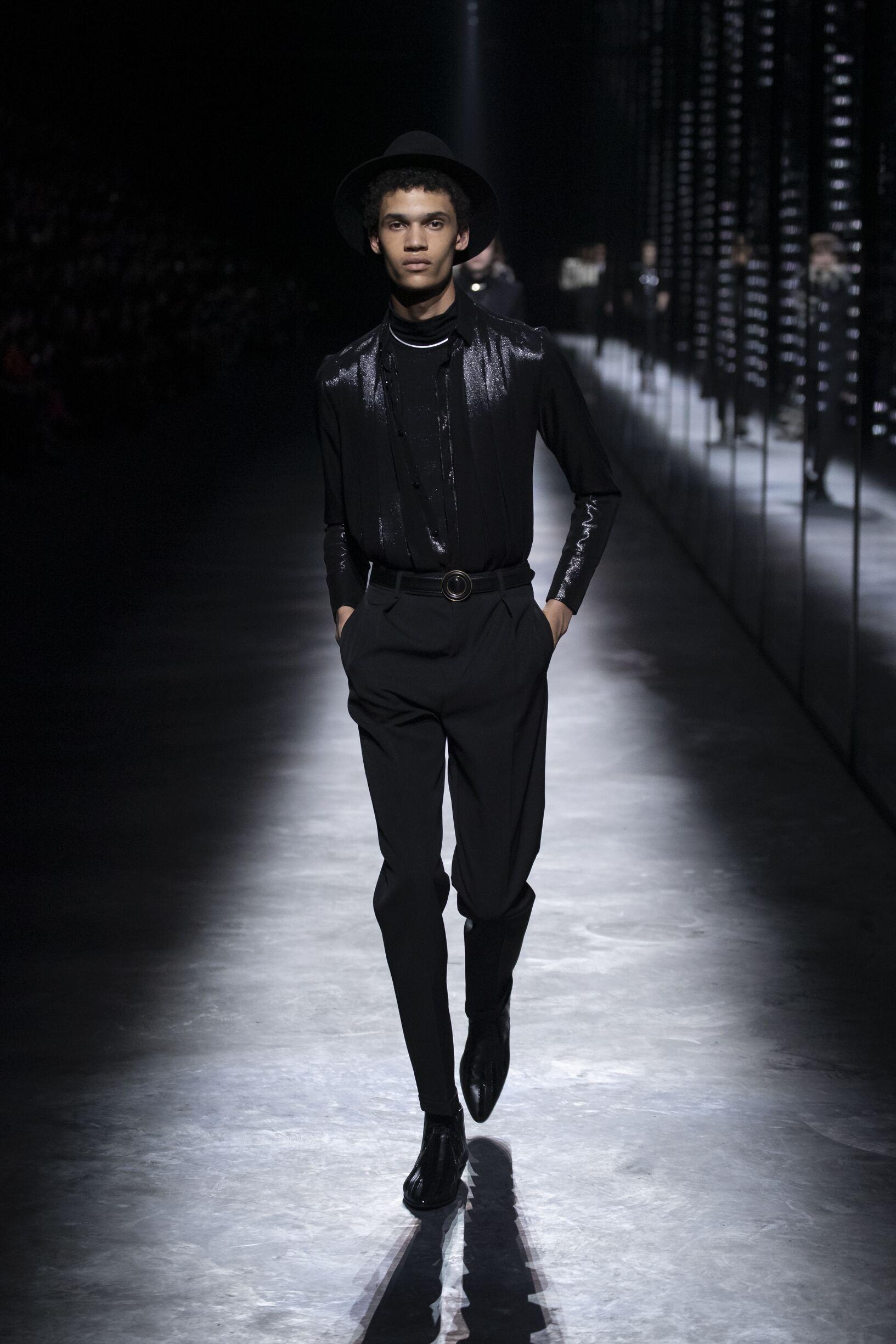 2019 Man Saint Laurent Trends Paris Fashion Week