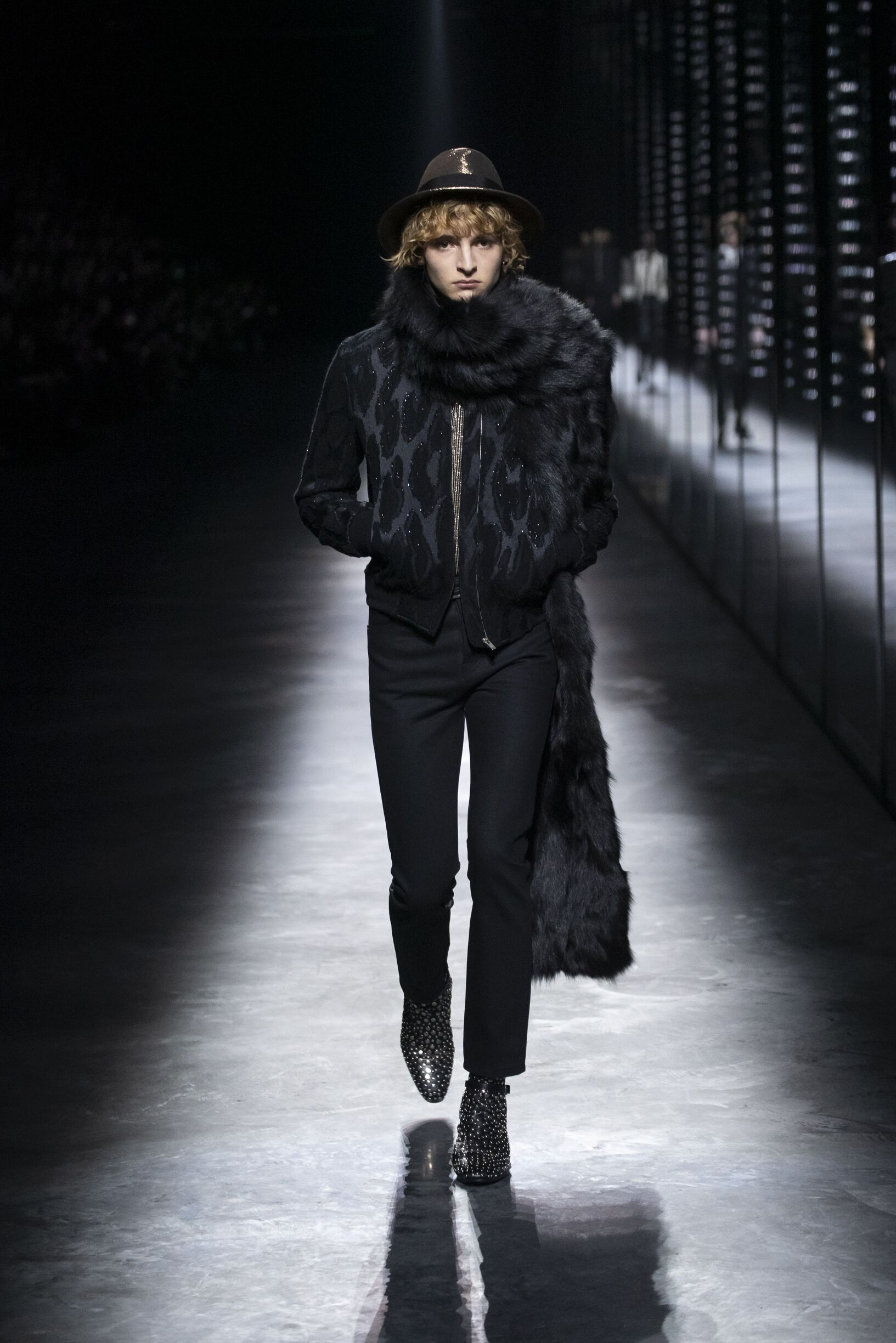 2019 Saint Laurent Catwalk Paris Fashion Week Menswear