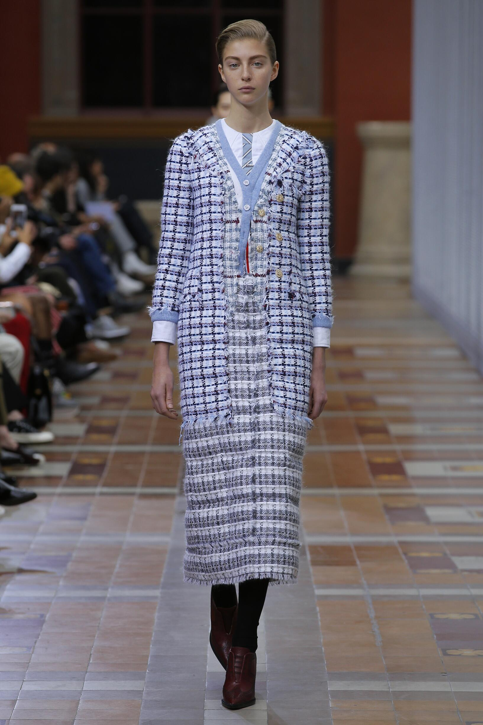 2019 Woman Thom Browne Trends Paris Fashion Week