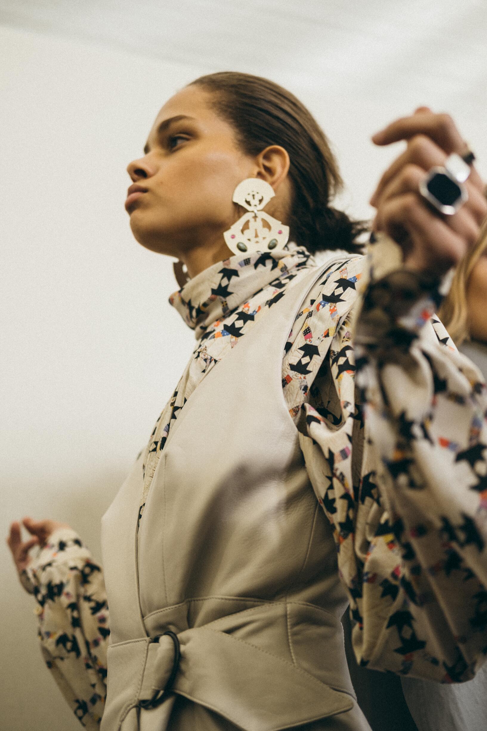 Backstage Isabel Marant Fall Womenswear 2019