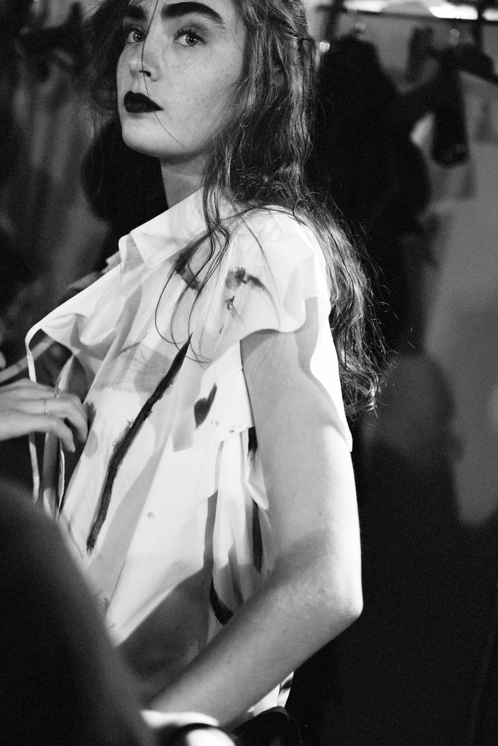 Backstage Yohji Yamamoto Model 2019-20