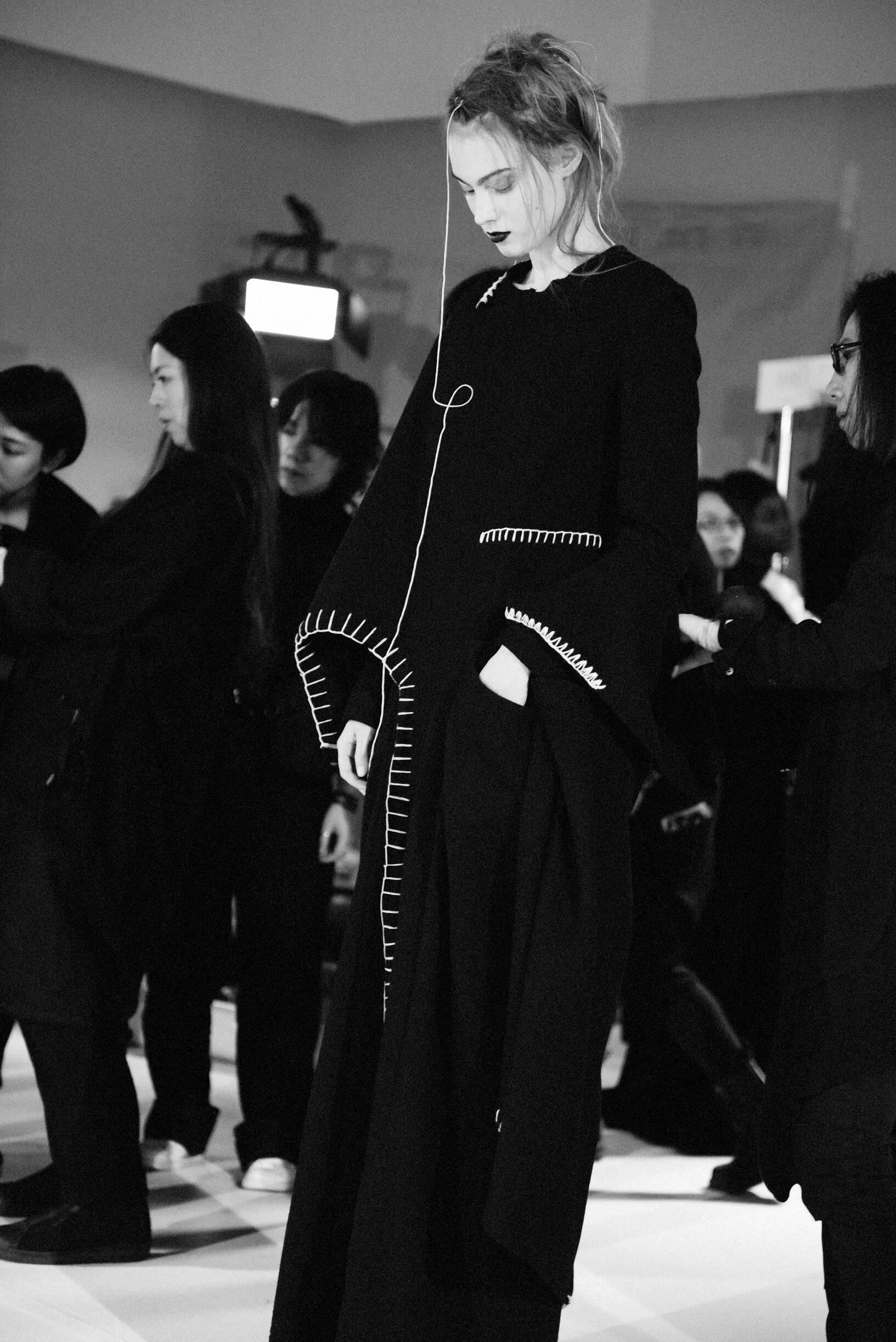 Backstage Yohji Yamamoto Model 2019 Style