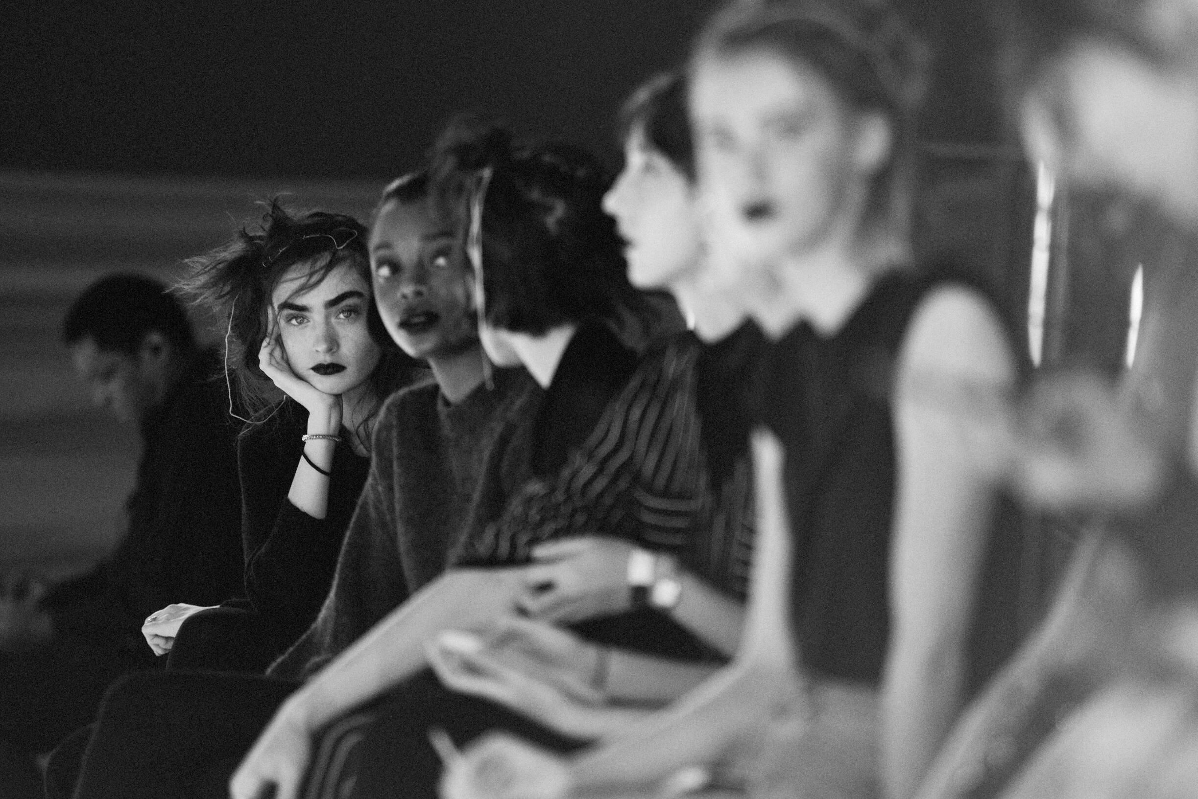 Backstage Yohji Yamamoto Models 2019 FW