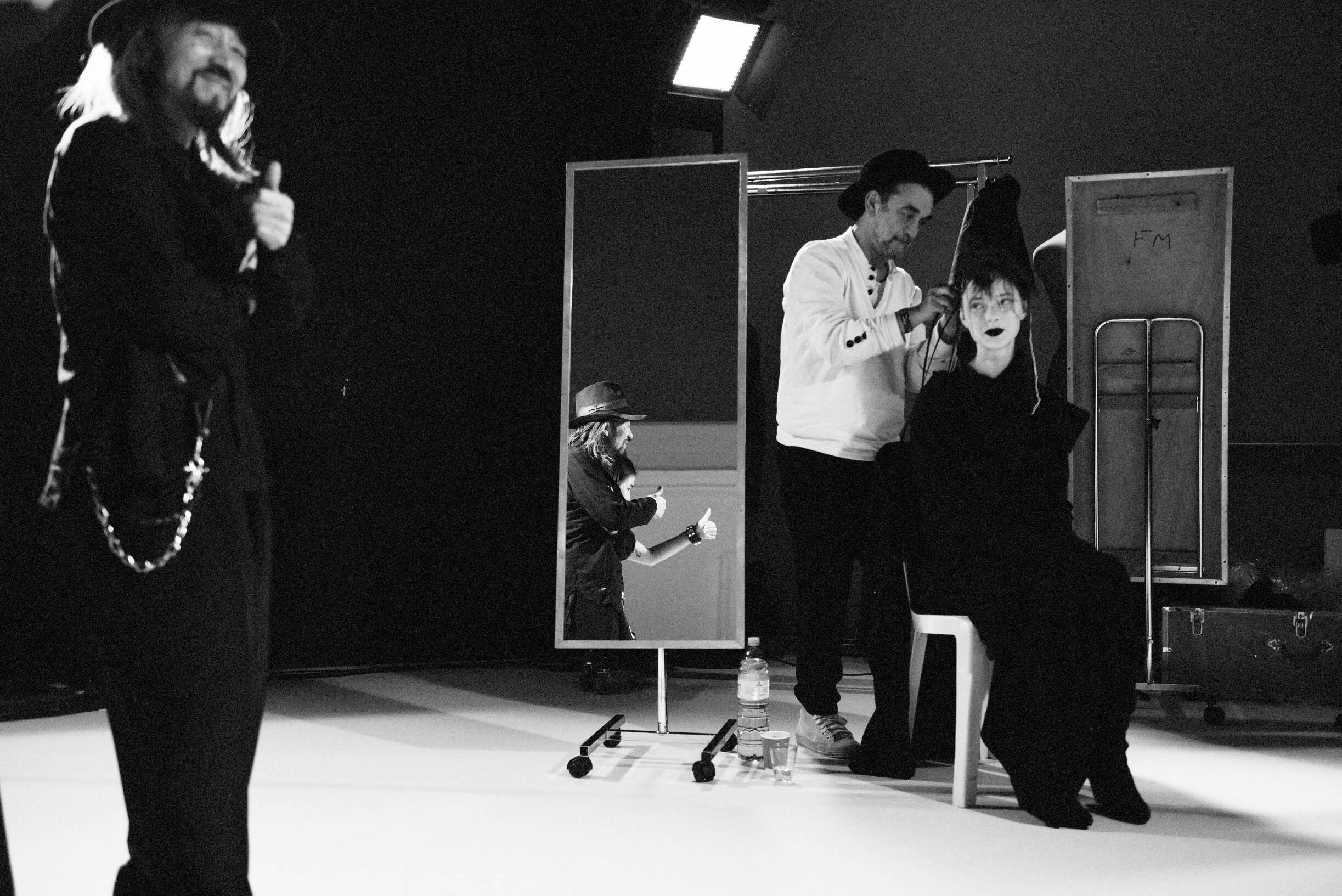 Backstage Yohji Yamamoto Paris 2019