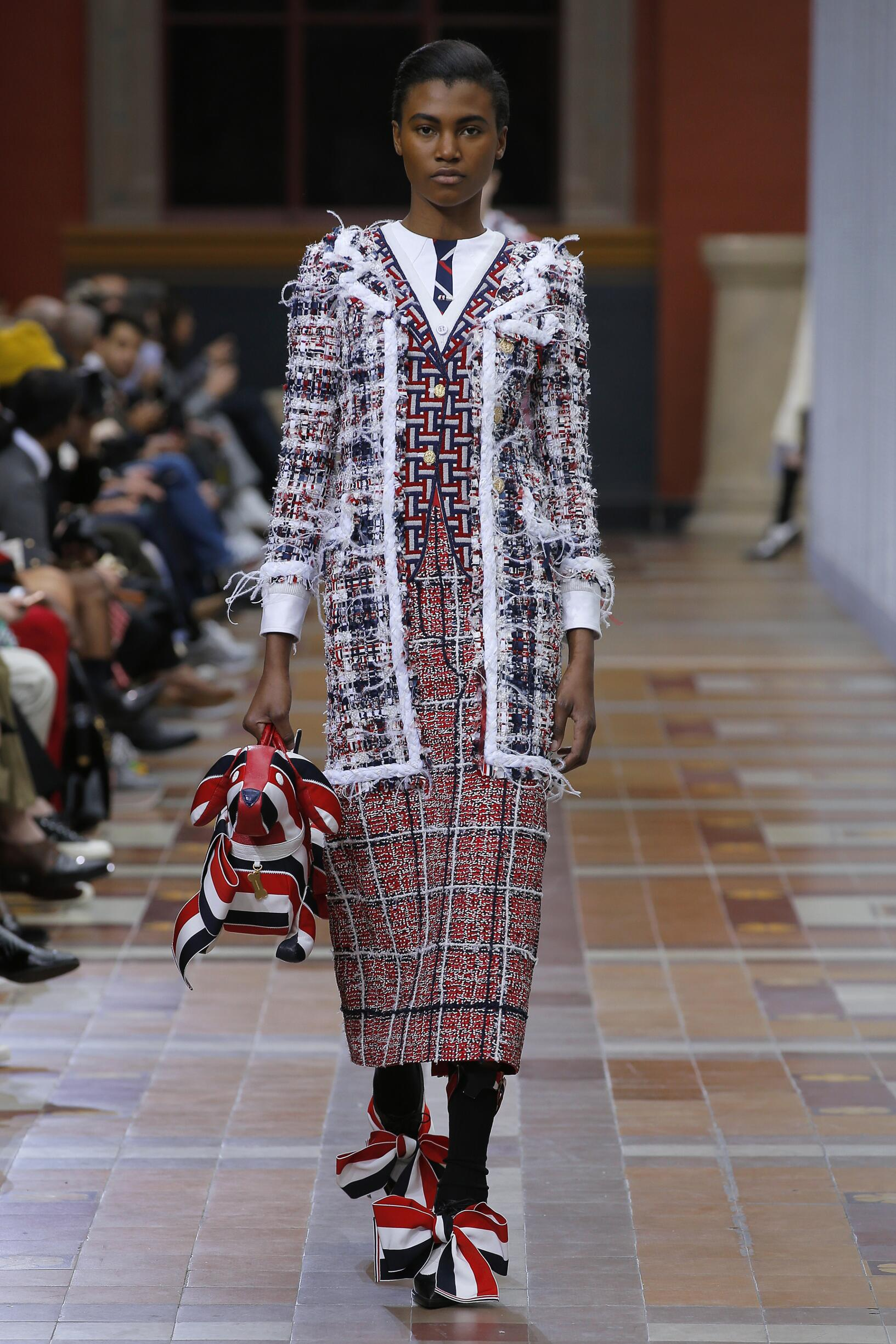 Catwalk Thom Browne Woman Fashion Show Winter 2019